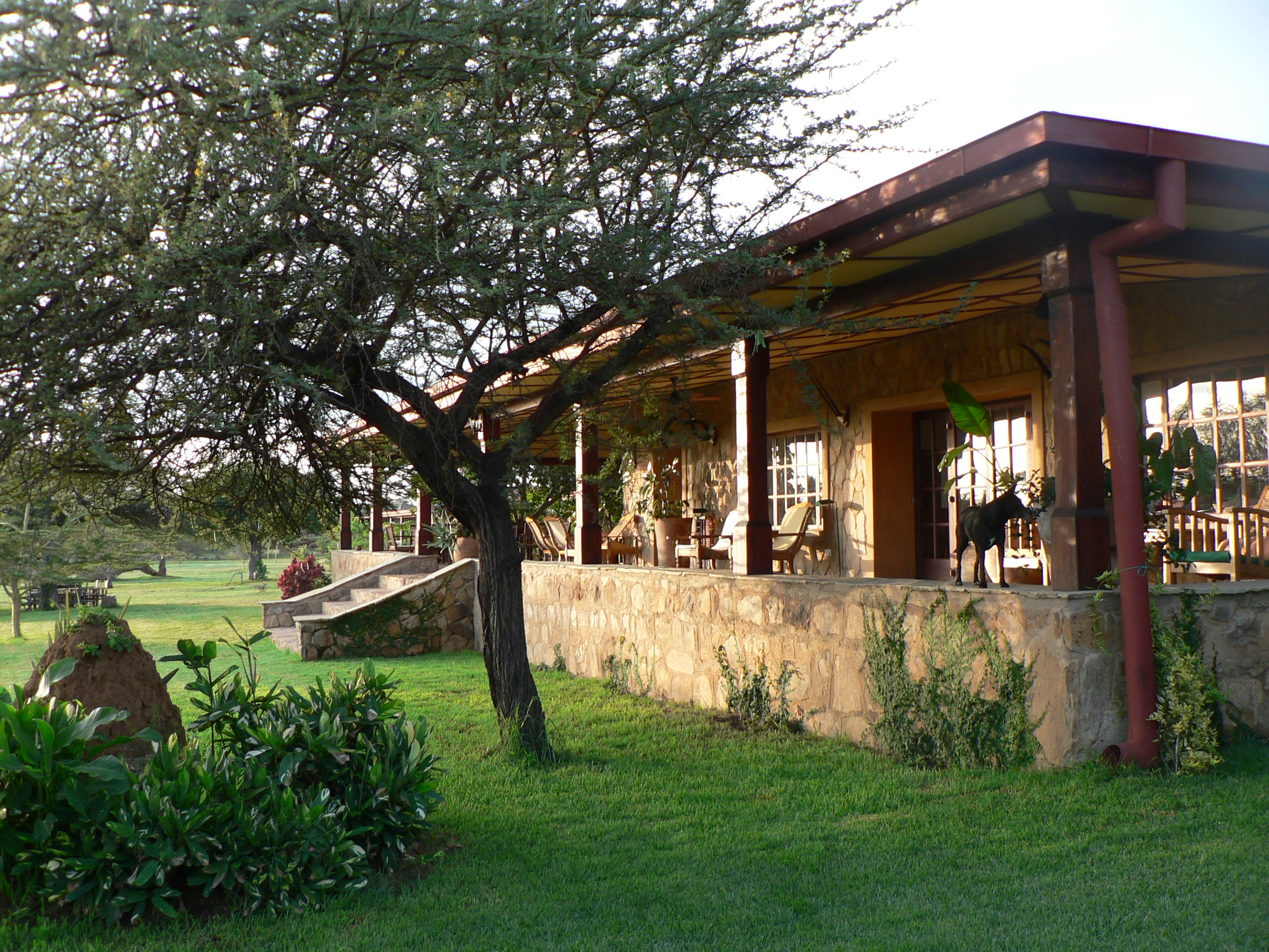 Sosian Game Lodge Kenya Veranda