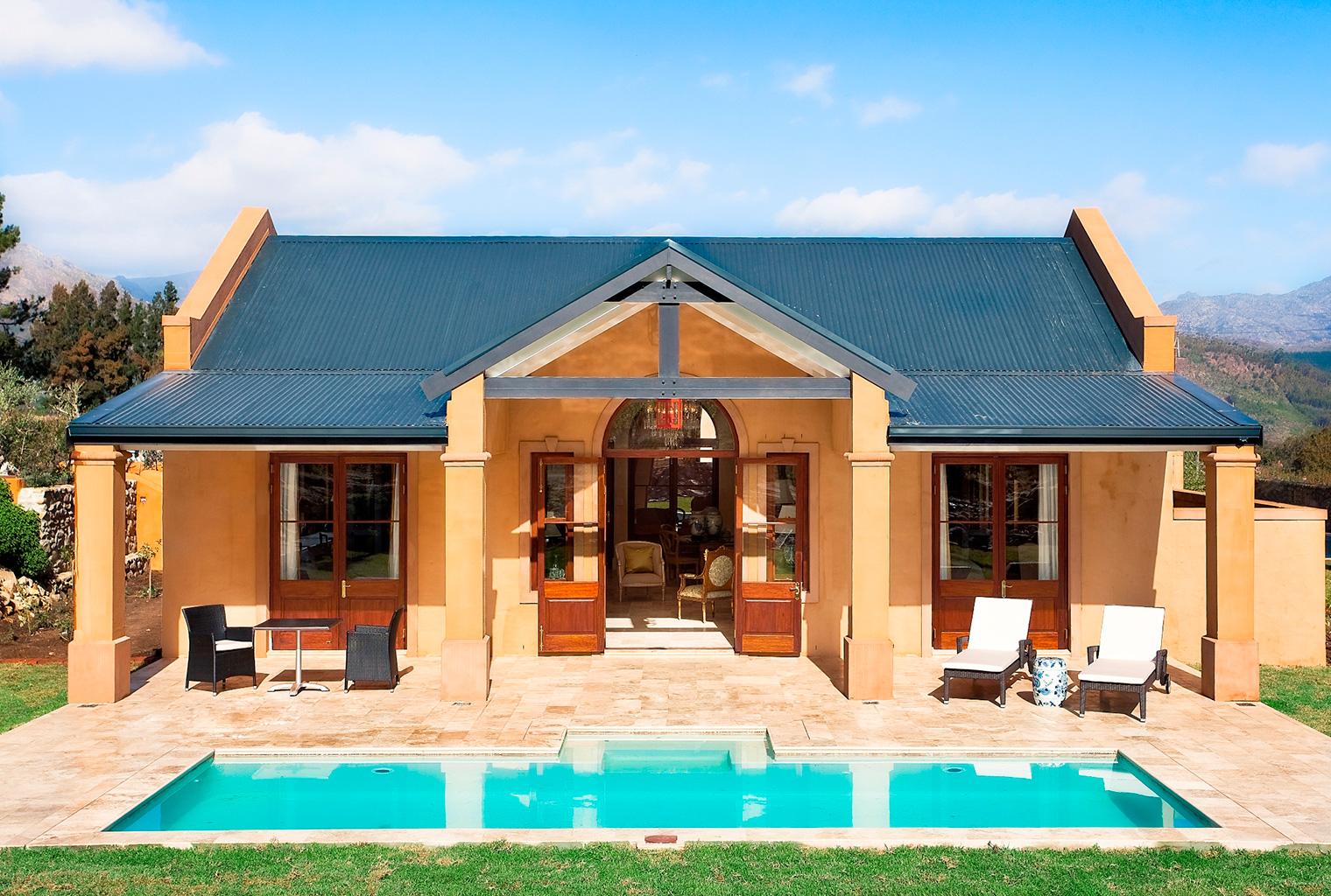 South-Africa, Winelands, La Residence, Villa Exterior
