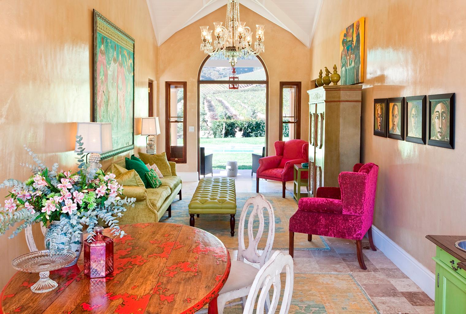South-Africa, Winelands, La Residence, Lounge