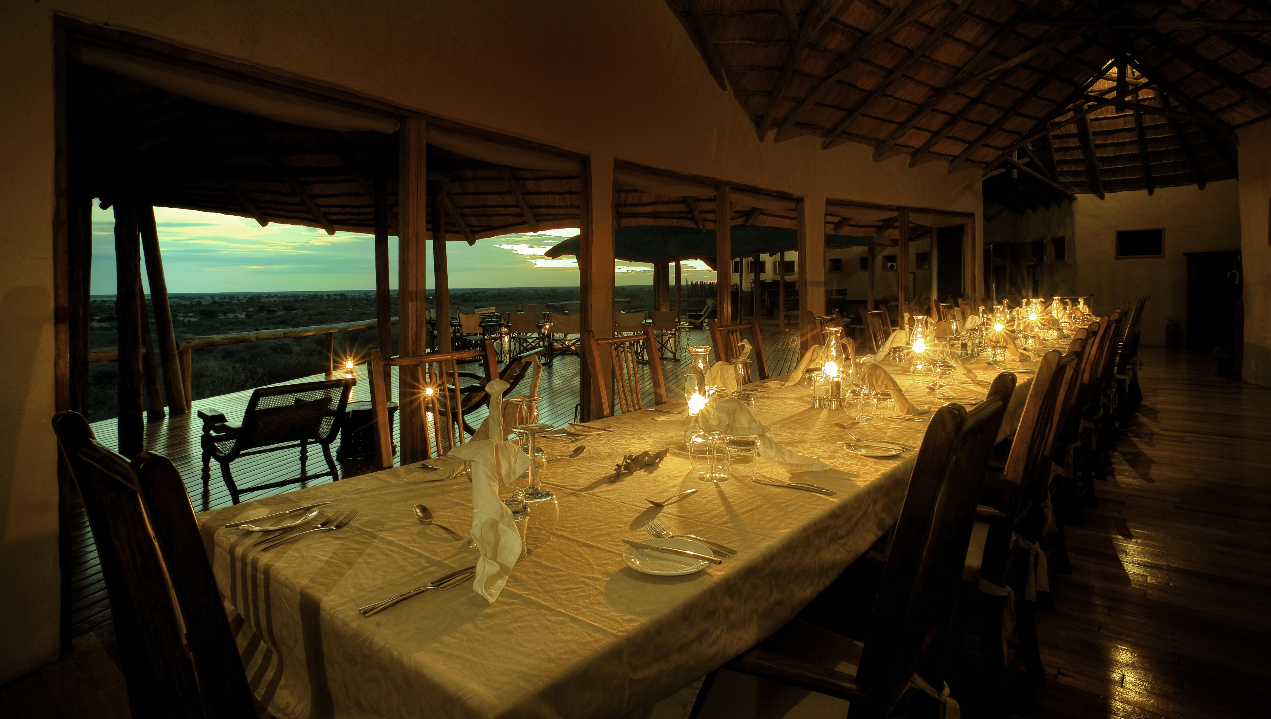 Tau Pan Botswana Dinner
