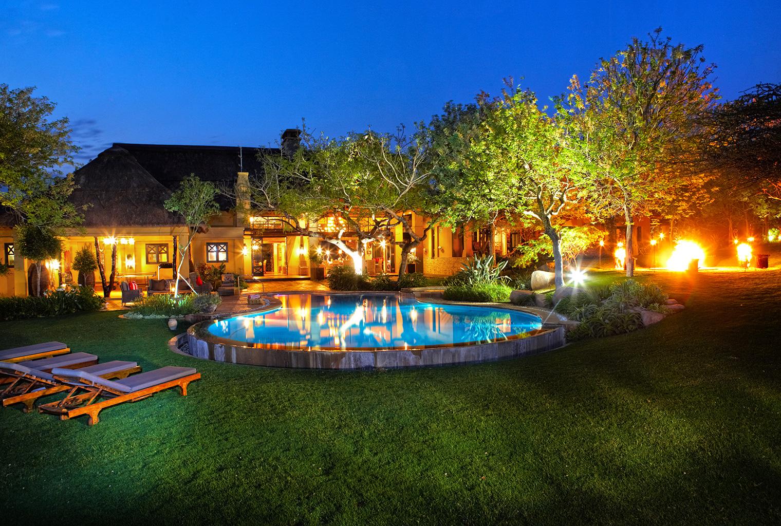 Thanda-Villa-Izulu-South-Africa-Exterior-Night