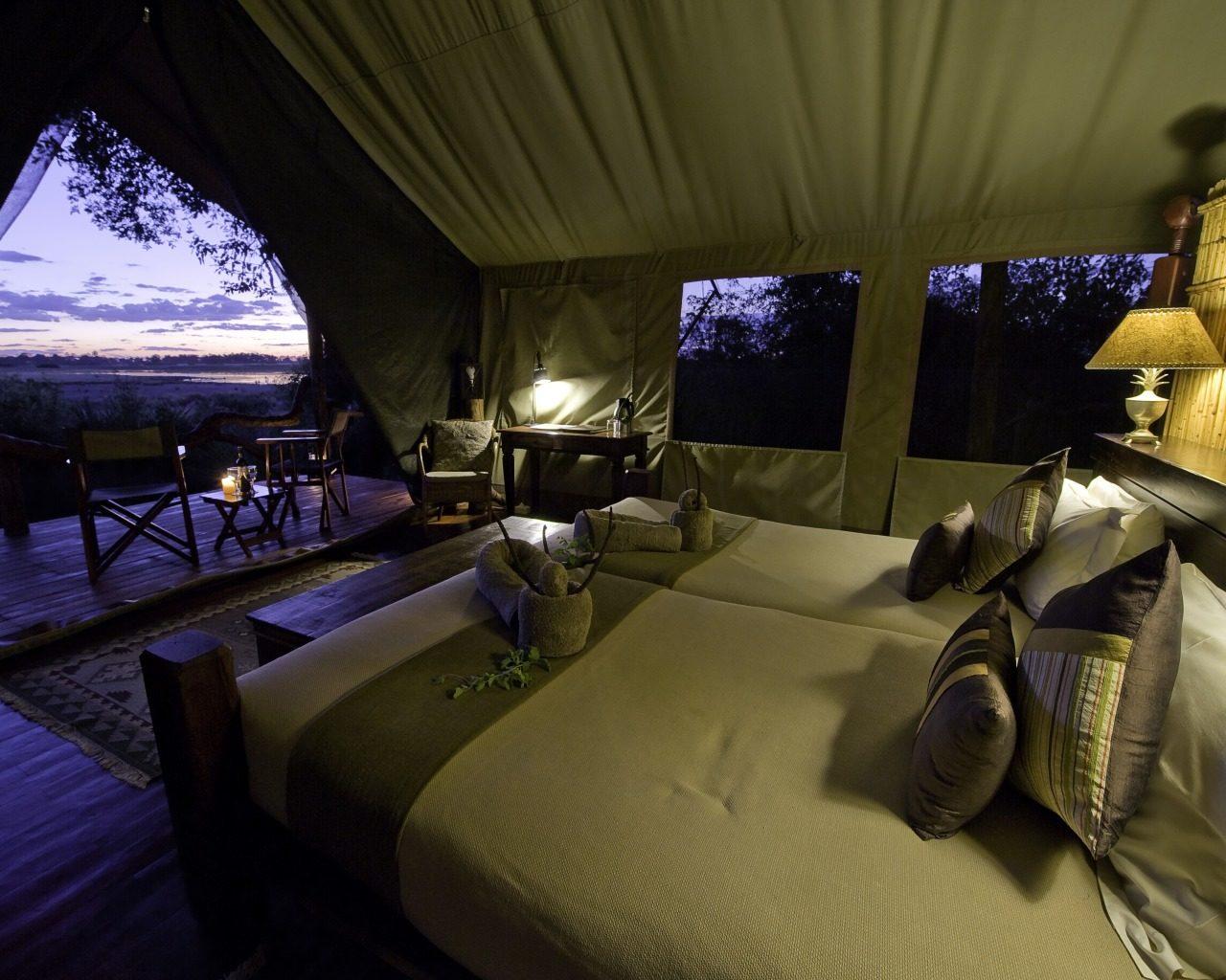 Botswana Tubu Tree Camp Night