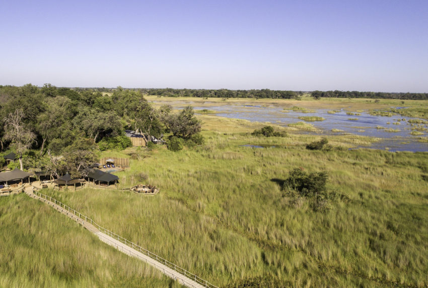 Little Vumbura Exterior Aerial Botswana