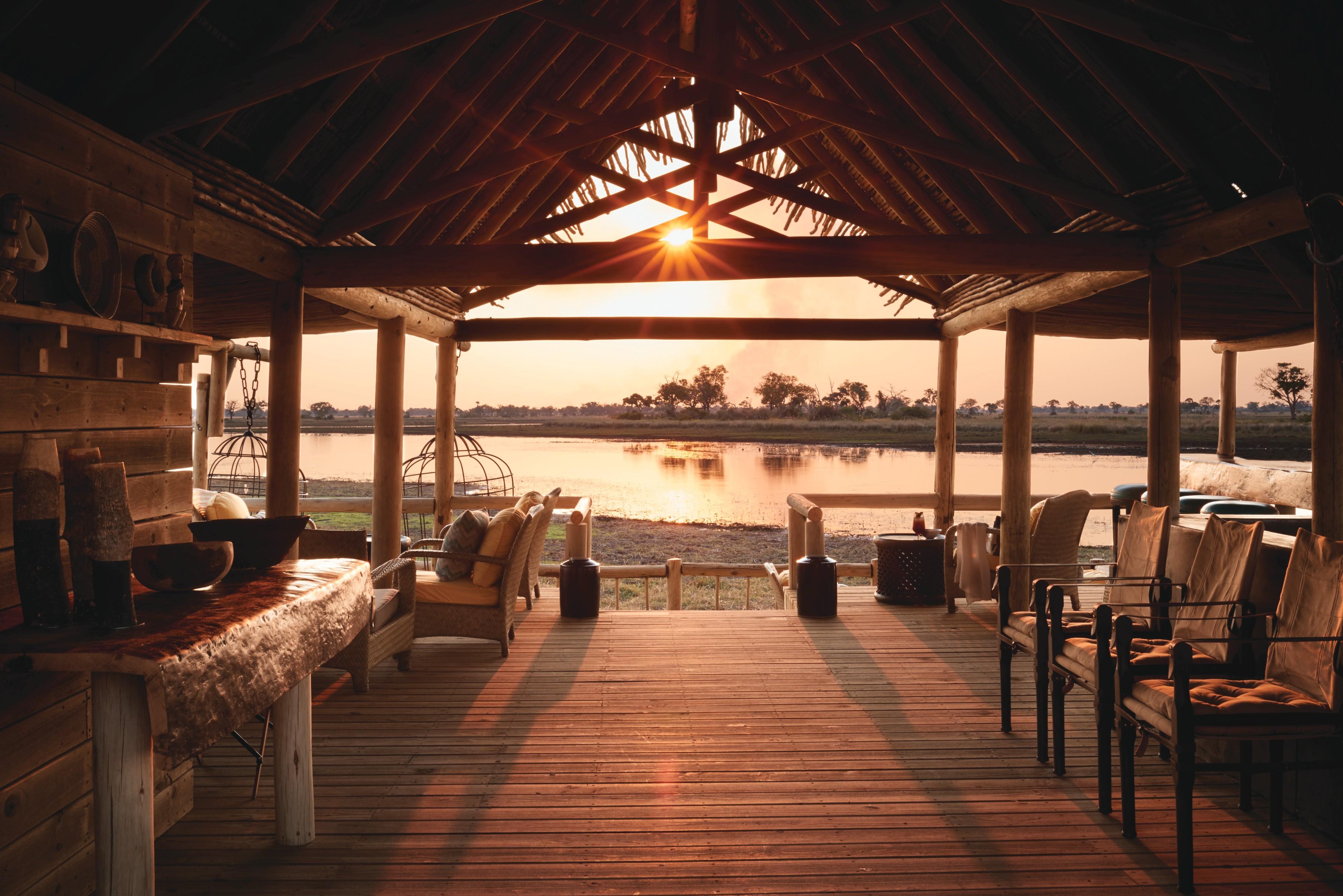 Eagle Island Camp Botswana Pizza Sunset