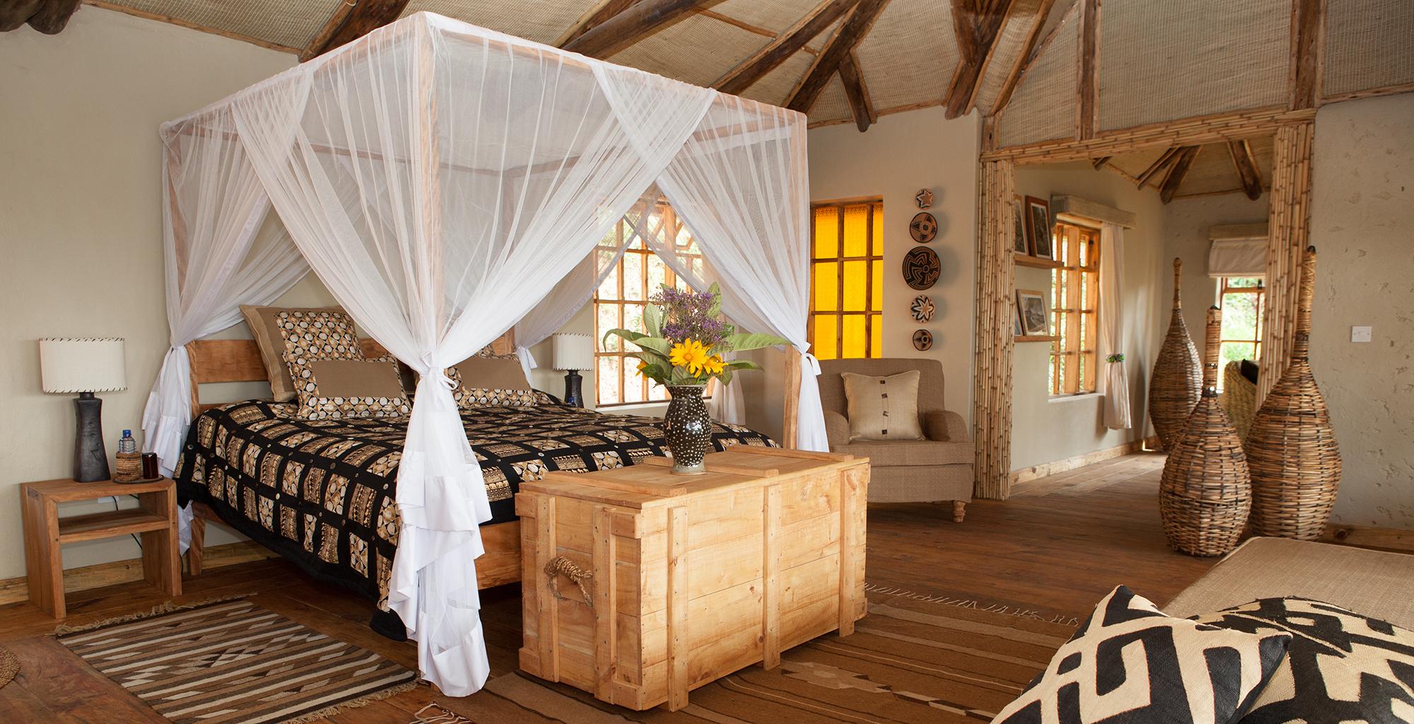Rwanda-Virunga-Bedroom
