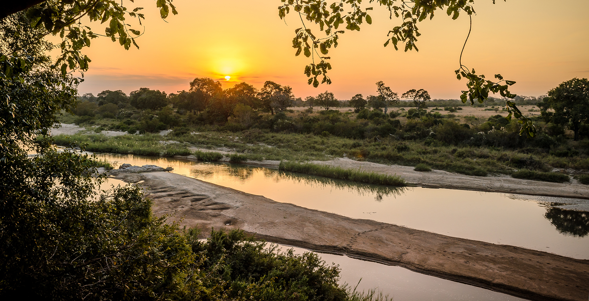 South-Africa-Kruger-National-Park-Sunset-River