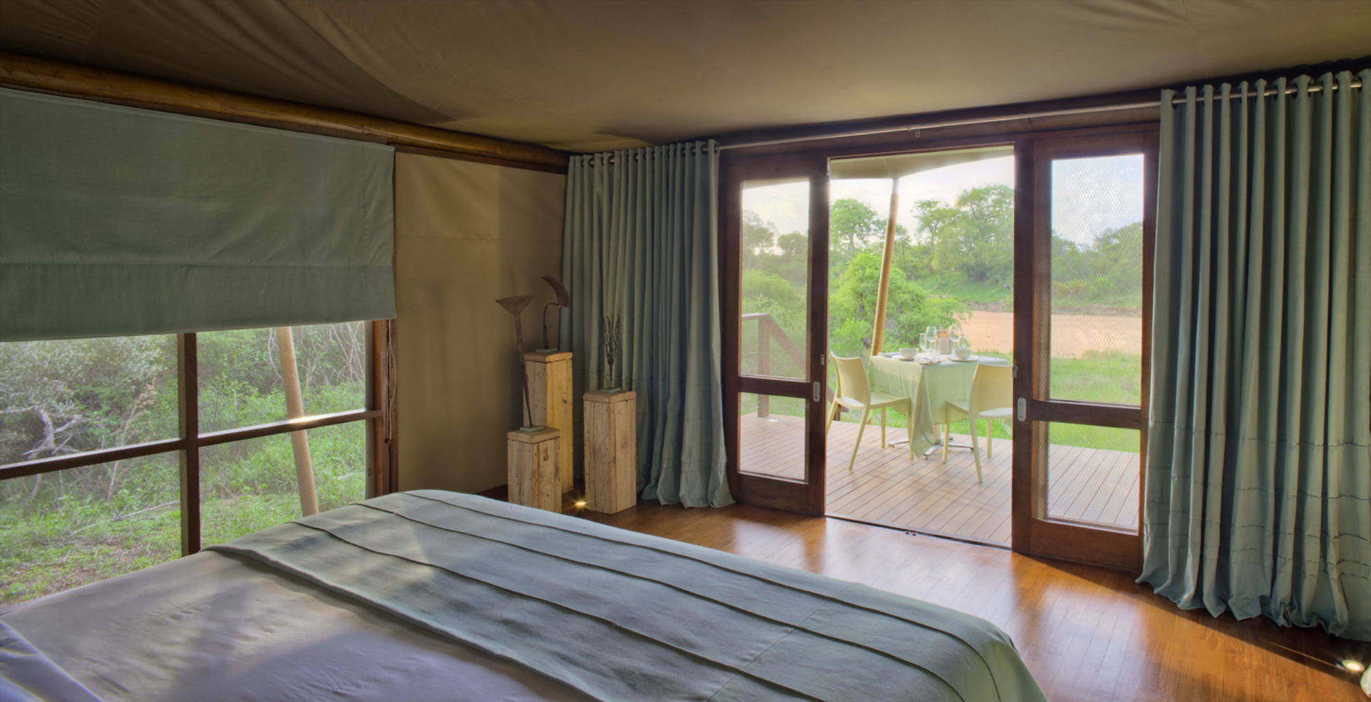 South-Africa-Ngala-Tented-Camp-Bedroom