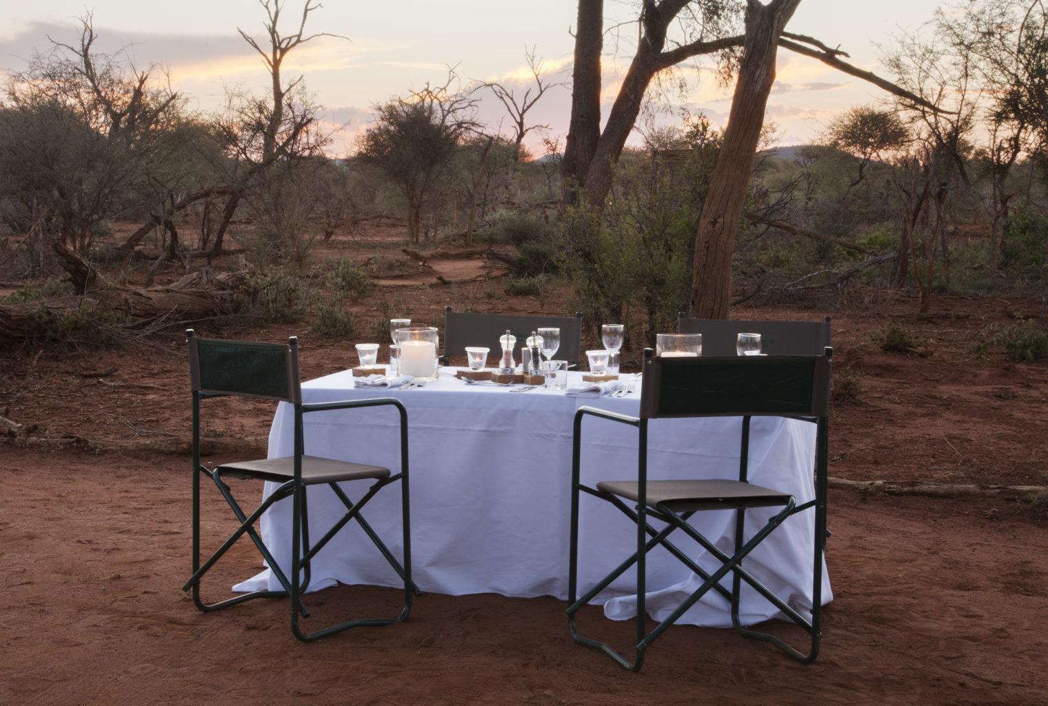 Molori Safari Lodge South Africa Sunset dinner