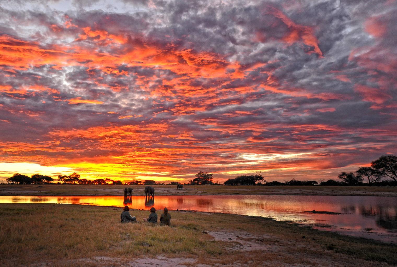 Somalisa Camp Zimbabwe sunset