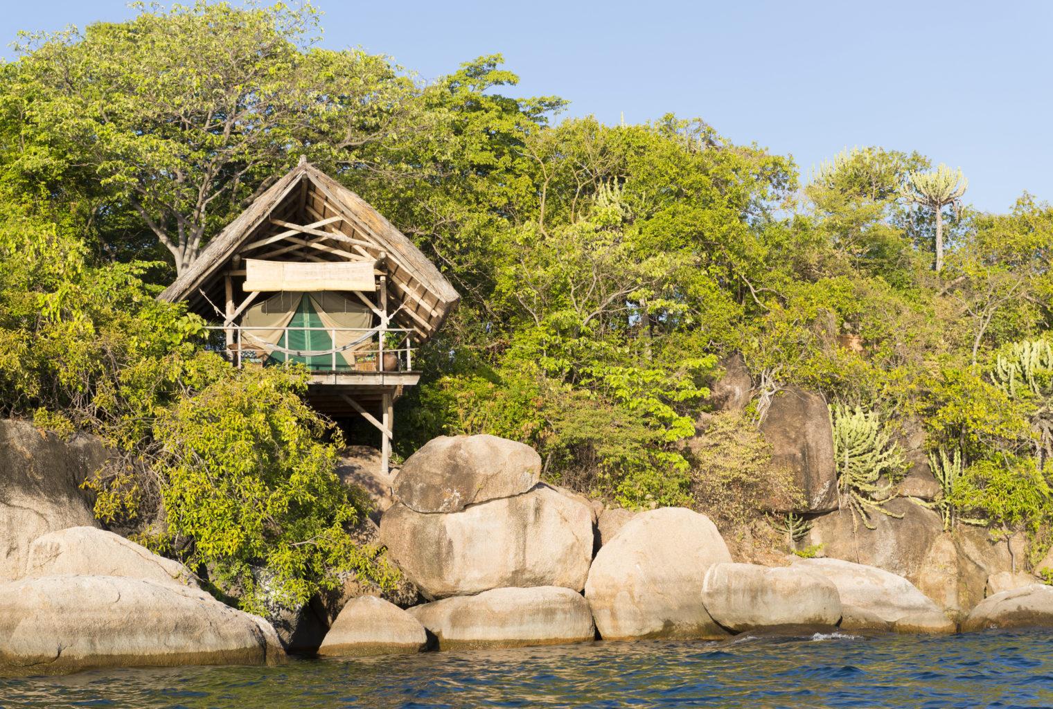 Mumbo Island Lodge MalawiTent Exterior