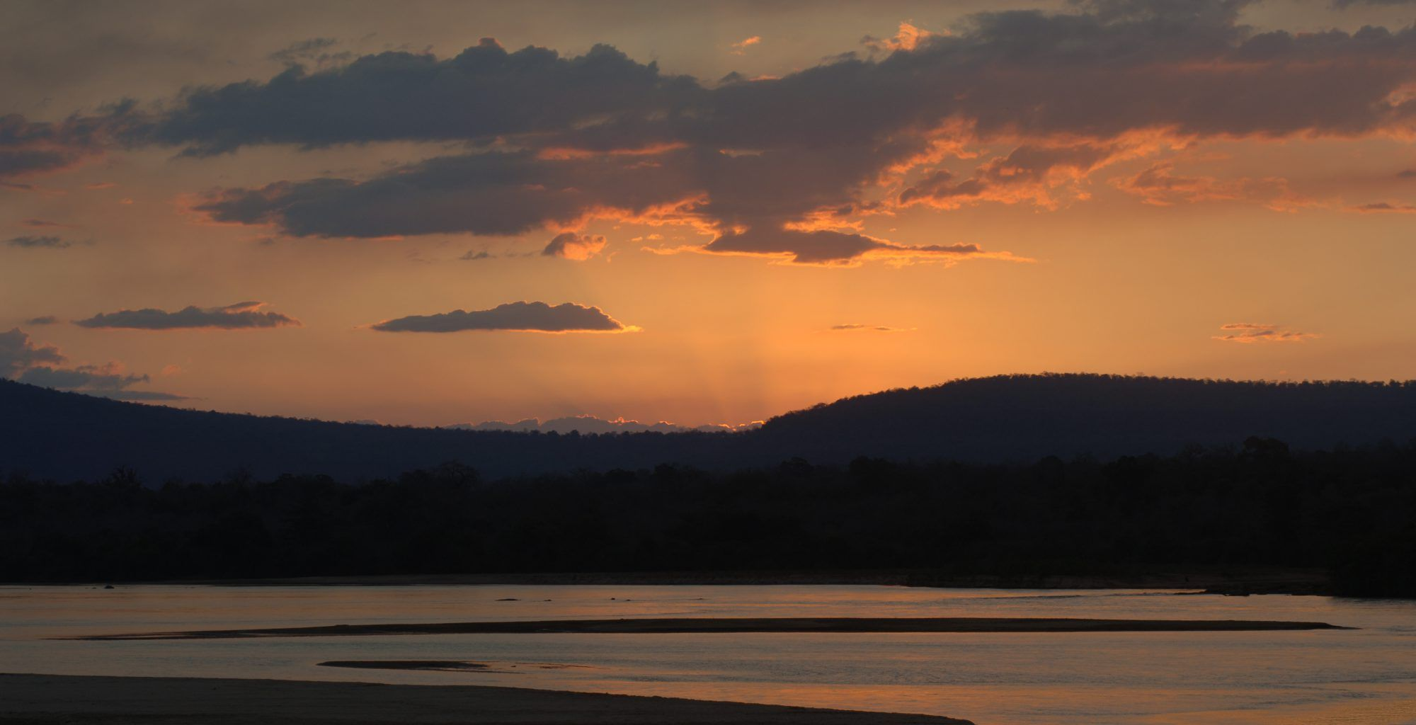 Tanzania-Selous-Game-Reserve-River-Sunset
