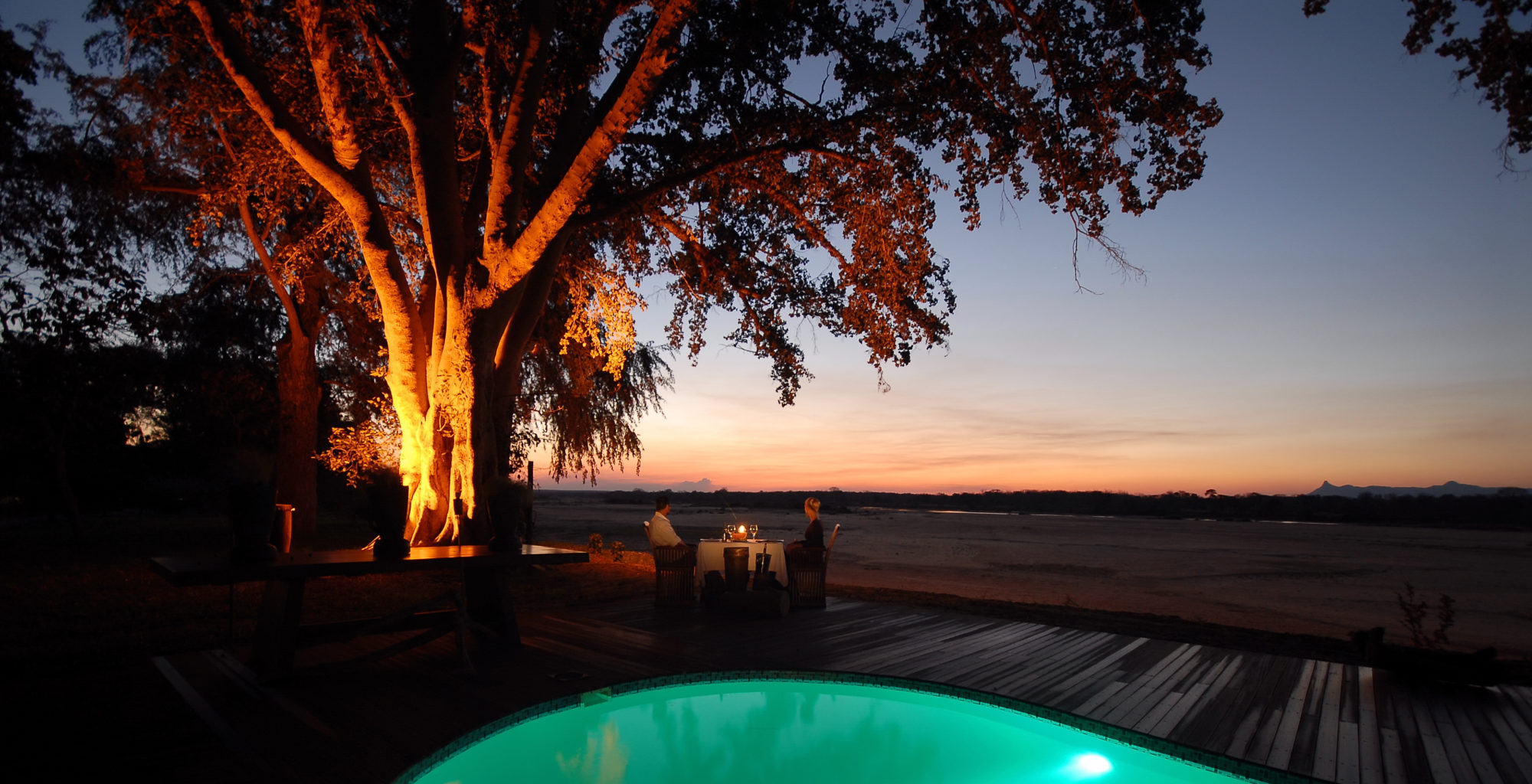 Lugenda Wilderness Mozambique Sunset Pool