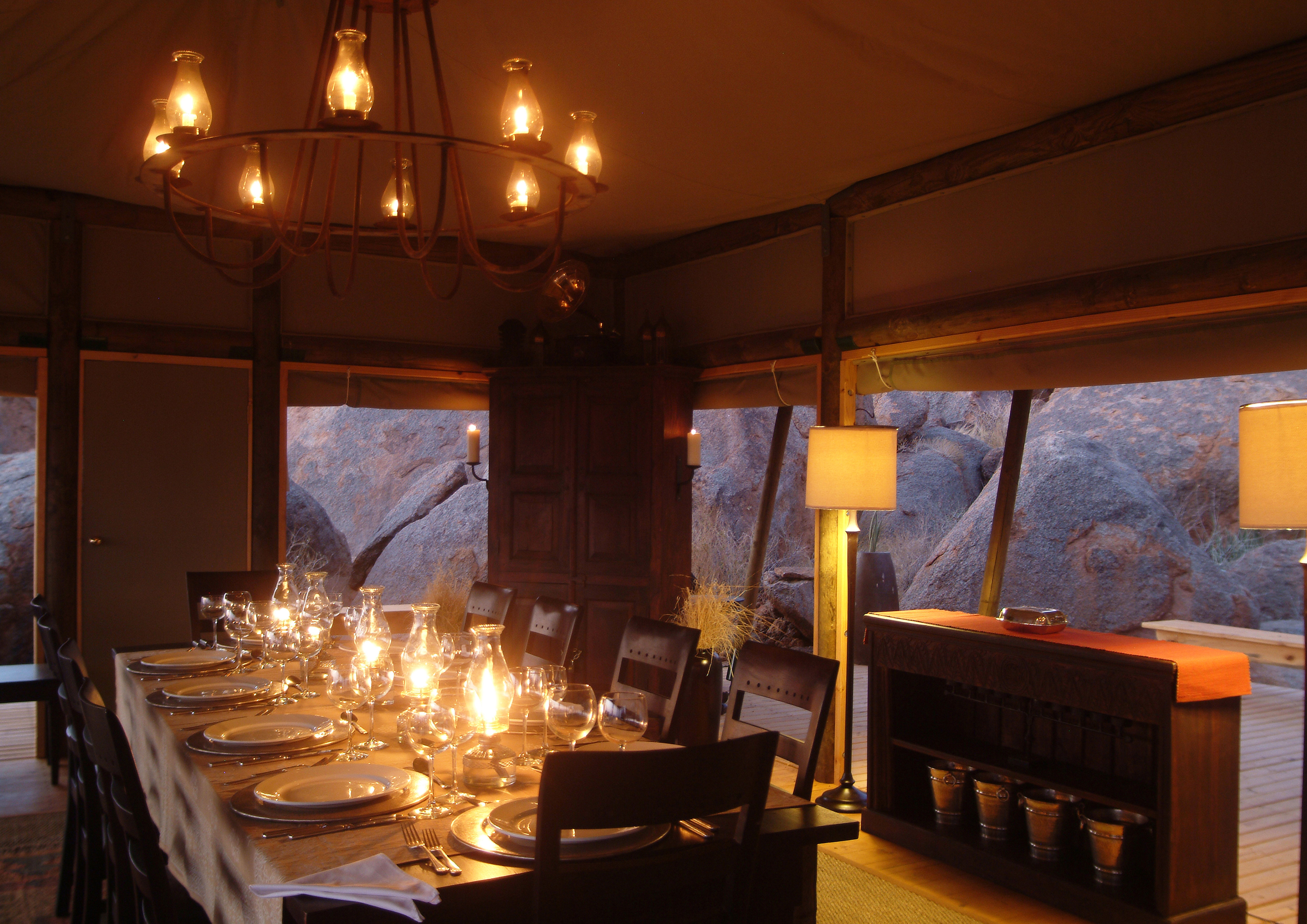 Wolwedans Boulders Camp Namibia Dining Room
