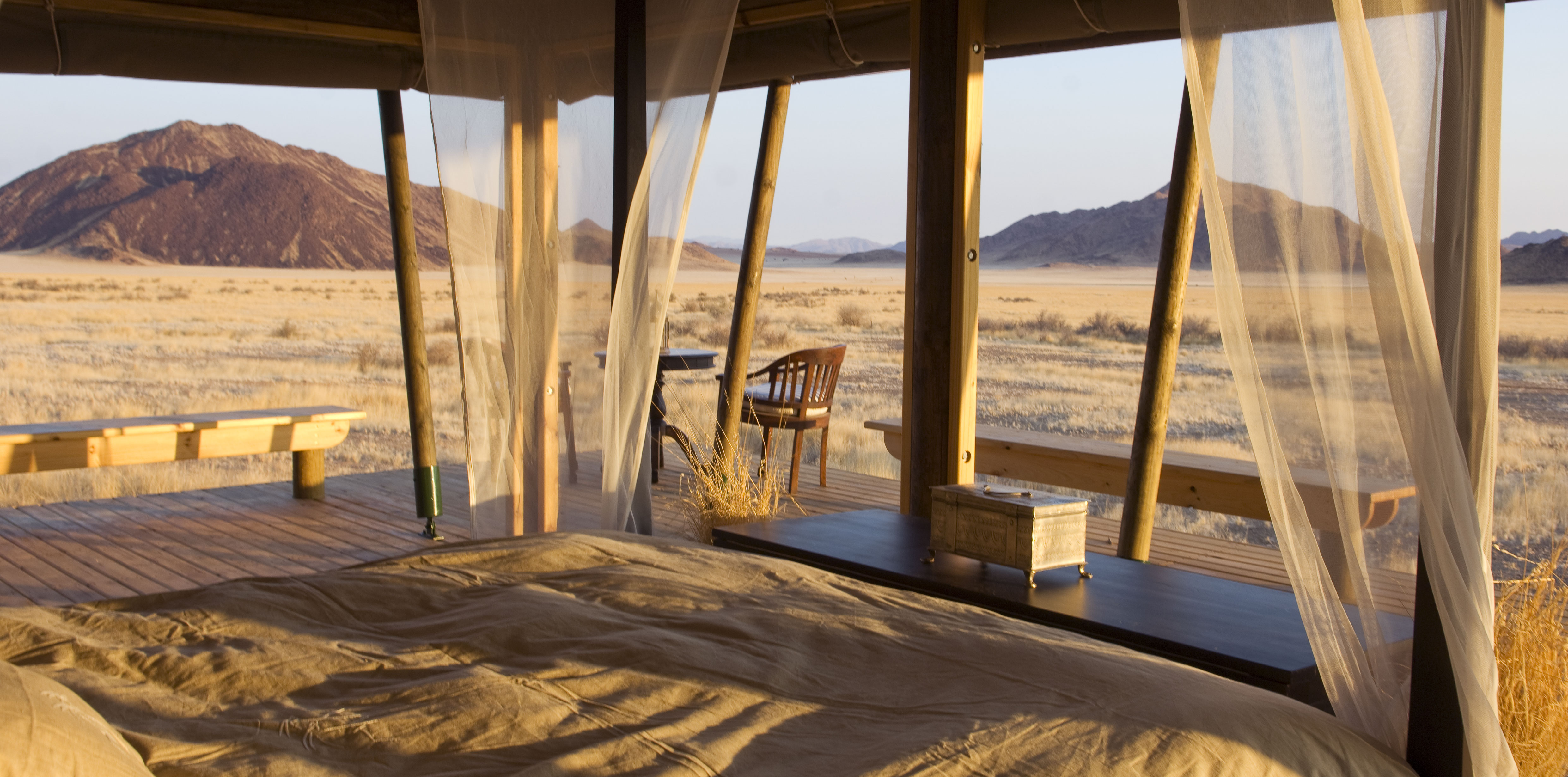 Wolwedans Boulders Camp Namibia Deck