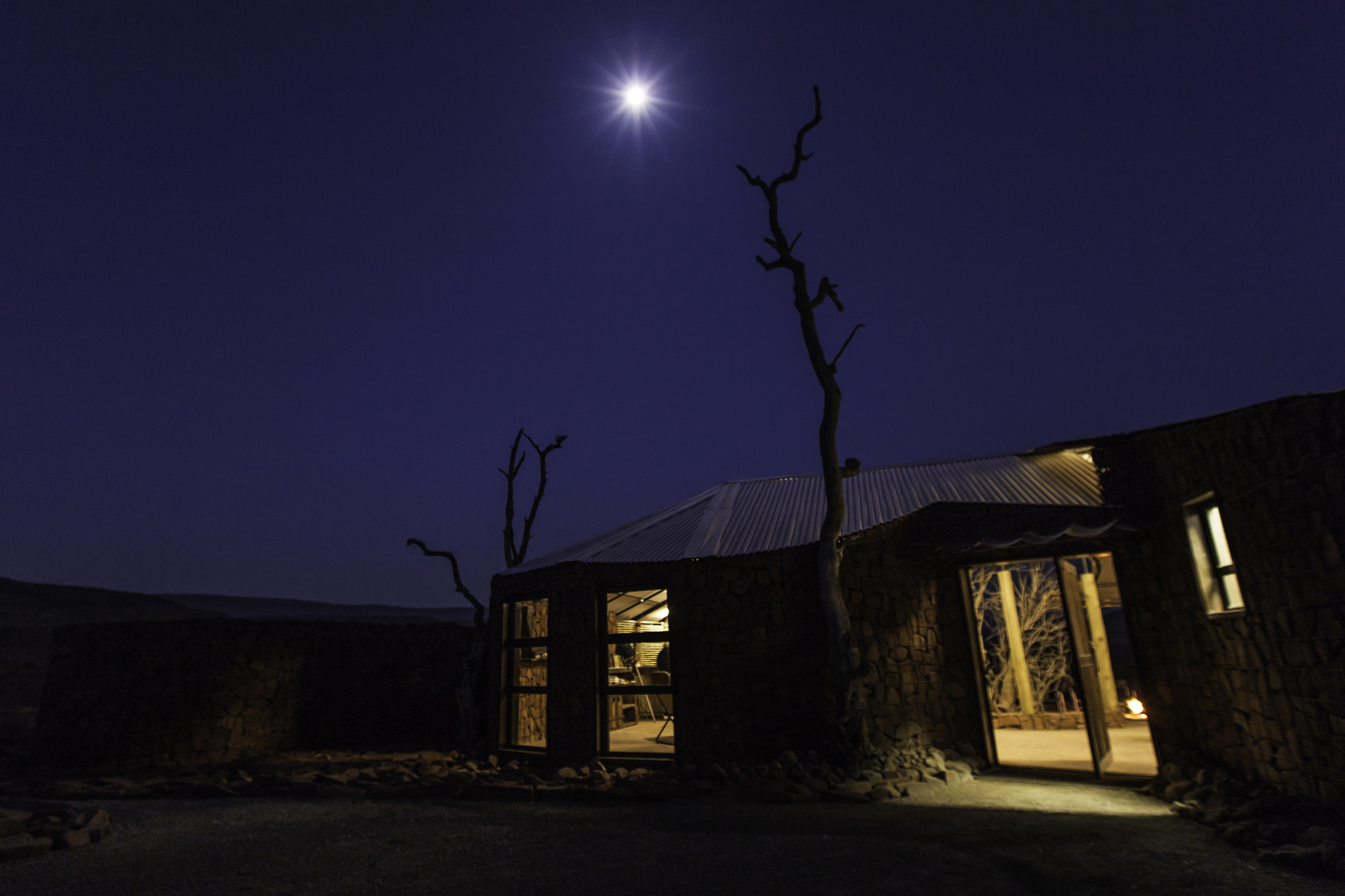 Etemdeka Mountain Camp Namibia Exterior Night