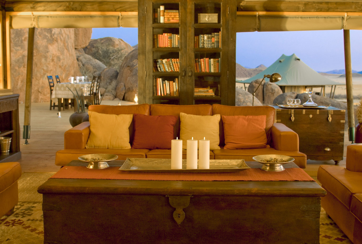 Wolwedans Boulders Camp Namibia Lounge