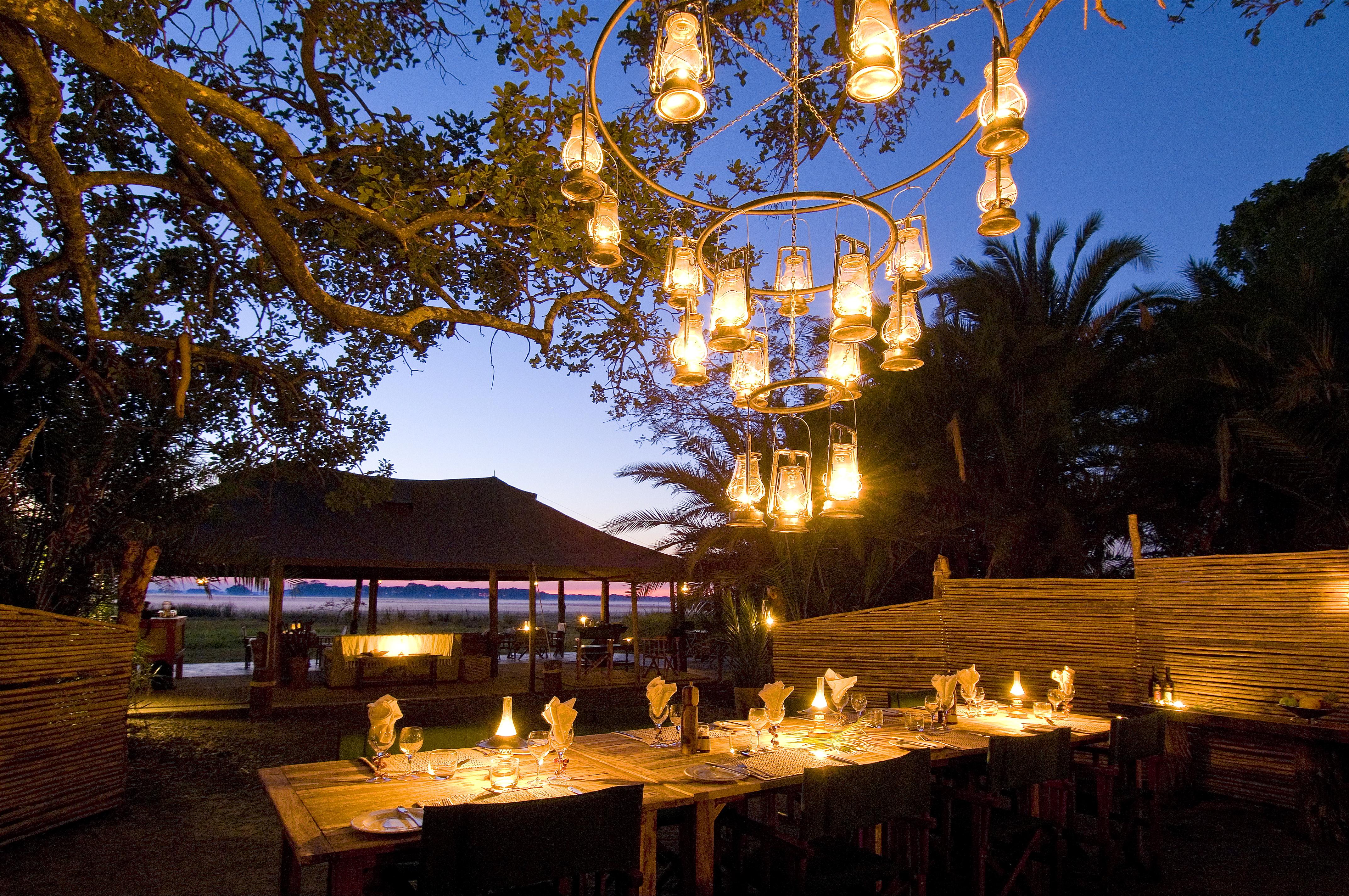 Busange Bush Camp Zambia Dining
