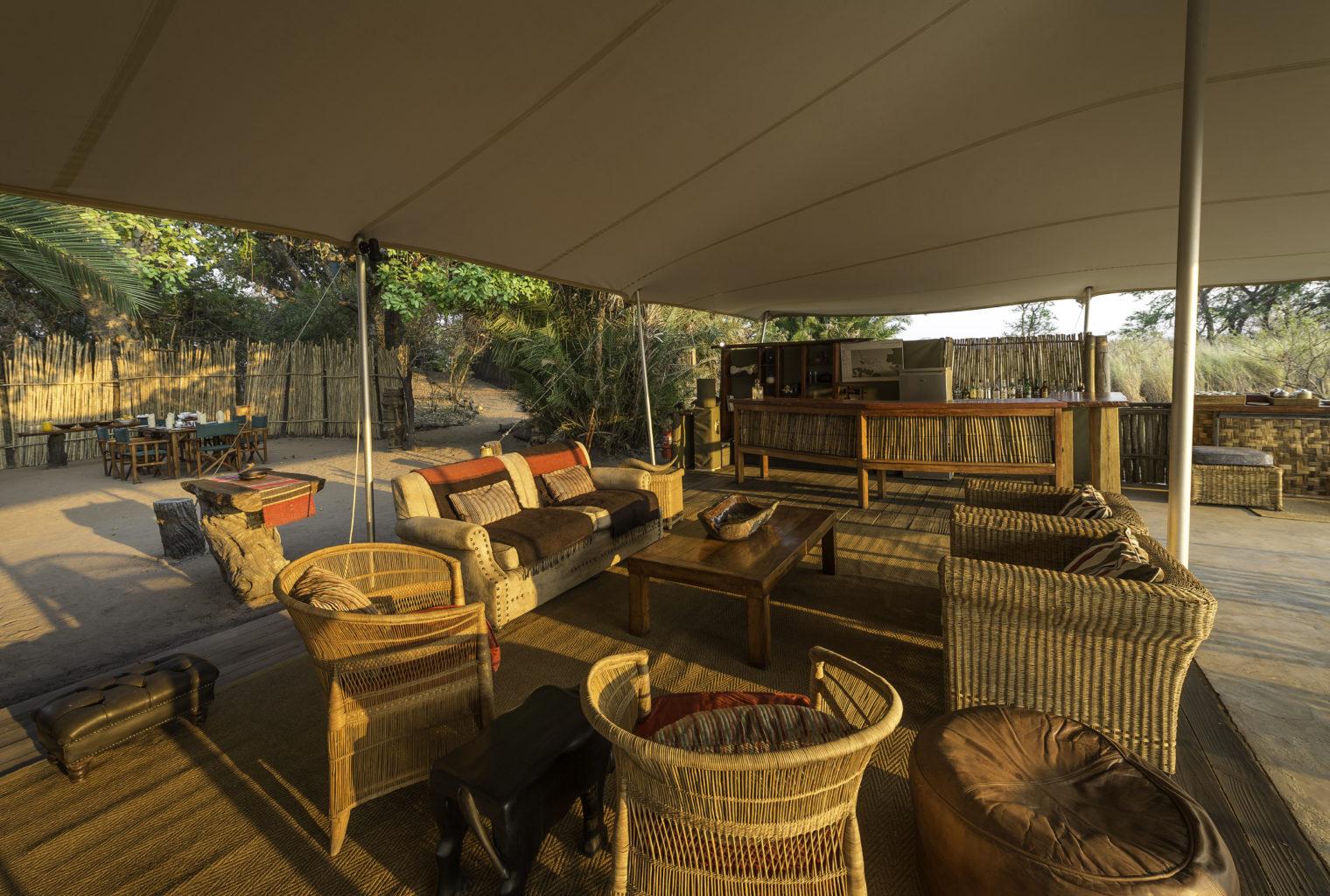 Busange Bush Camp Zambia Lounge