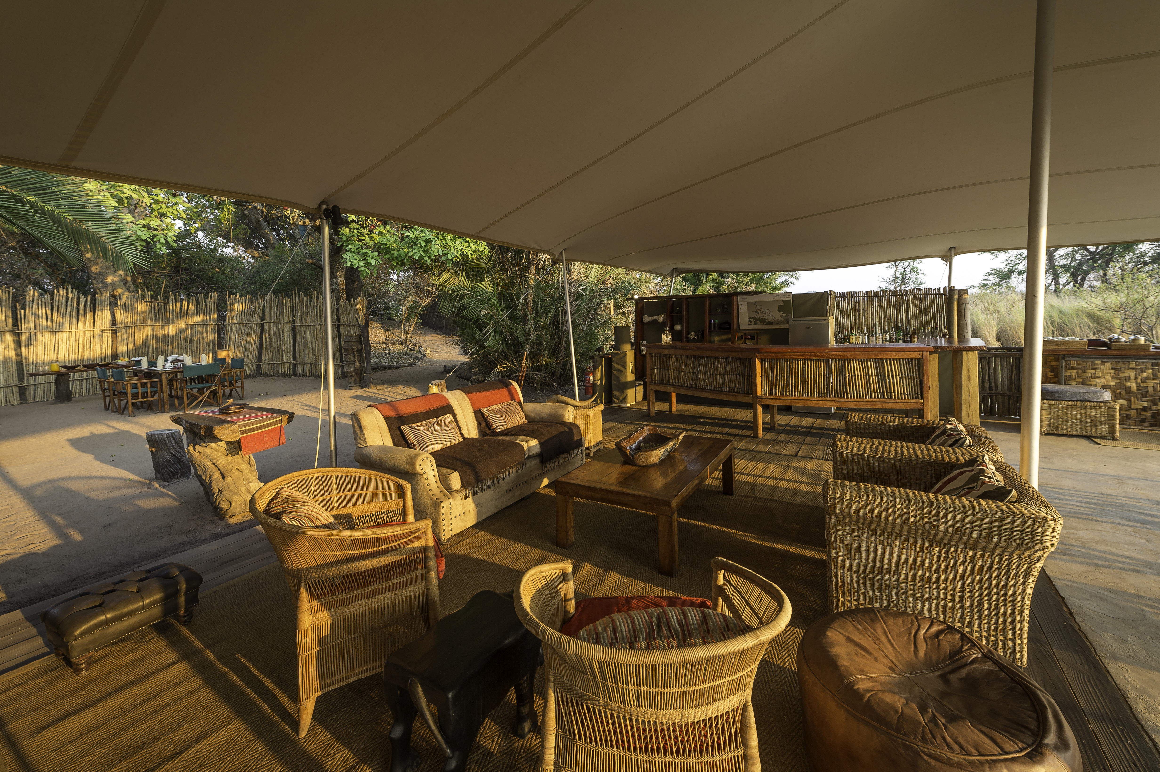 Busange Bush Camp Zambia Lounge