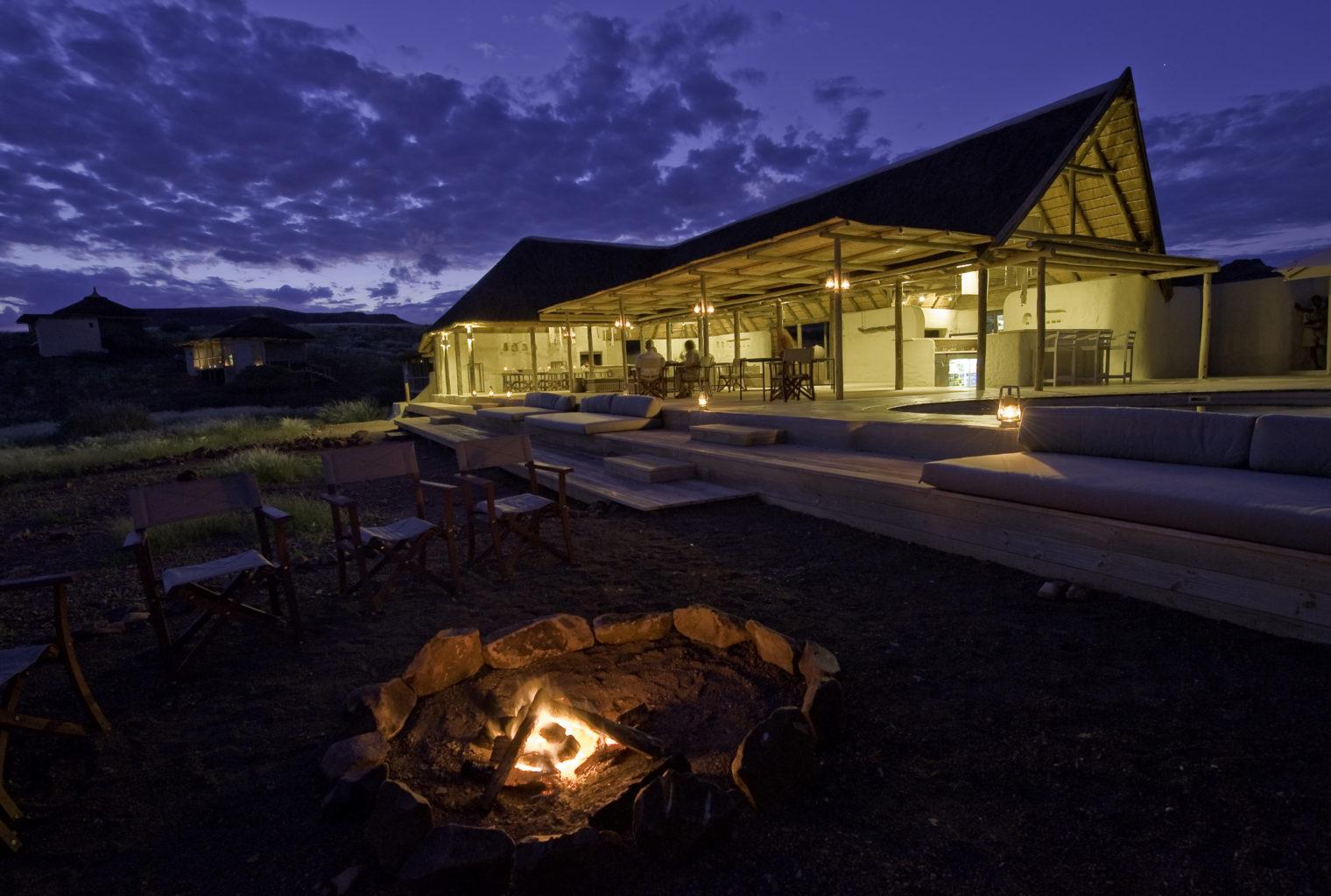 Damaraland Camp Namibia Exterior Night