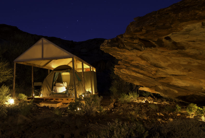 Damaraland Adventurer Camp Namibia Exterior Night