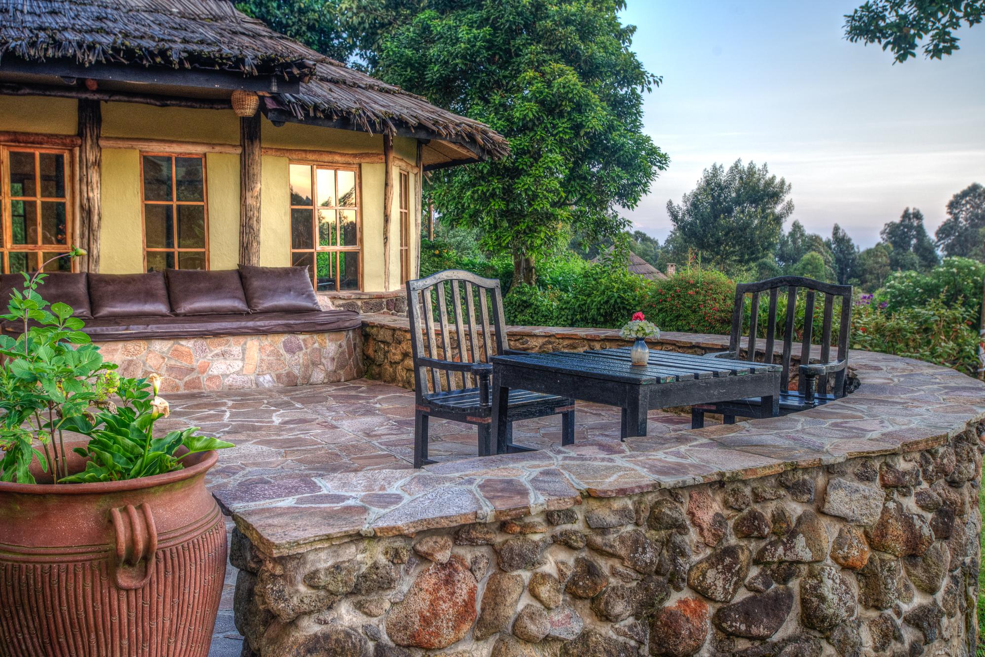Mount Gahinga Lodge Uganda deck