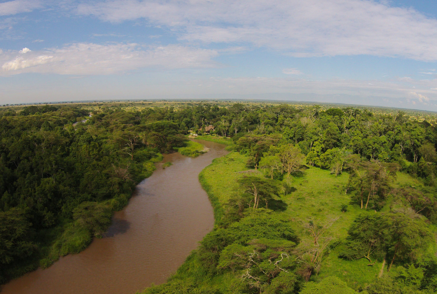 Ishasha Wilderness Camp Uganda Aerial
