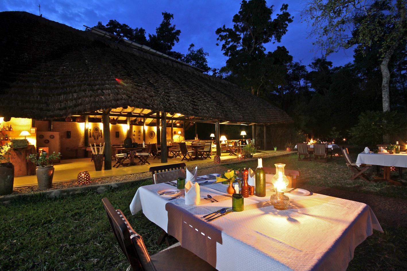 Ishasha Wilderness Camp Uganda Outside Dining