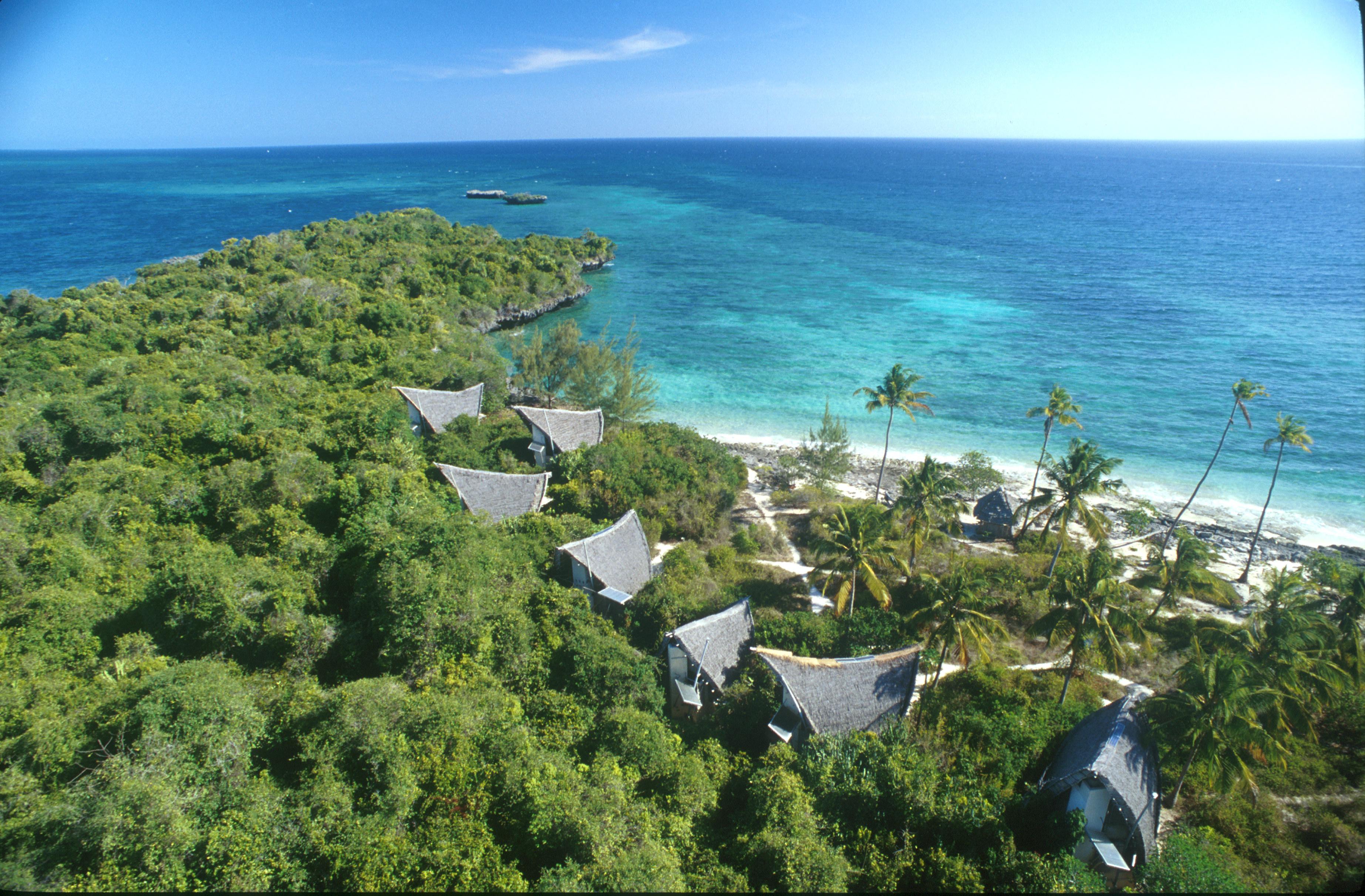Chumbe Island Lodge Tanzania Aerial