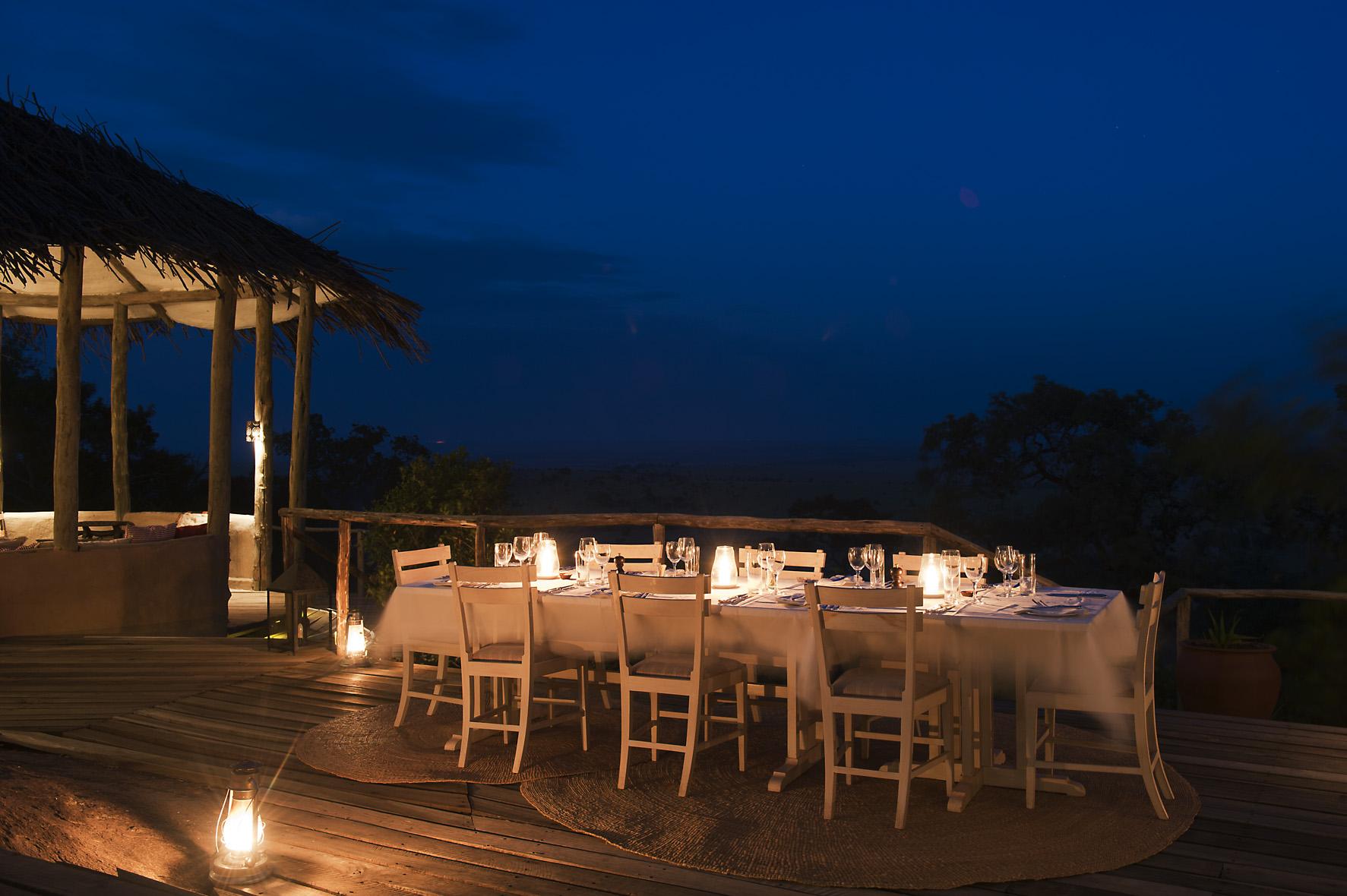 Lamai Serengeti Tanzania Night Dinner