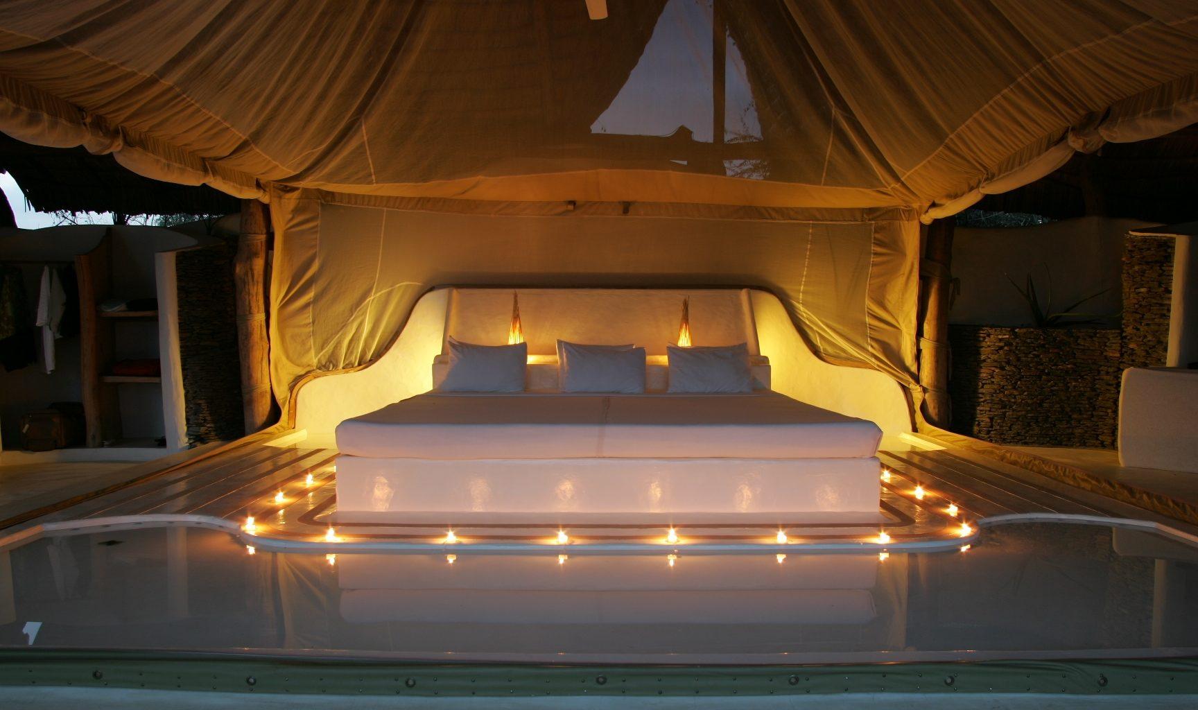 Little Shompole Kenya Candle Bed