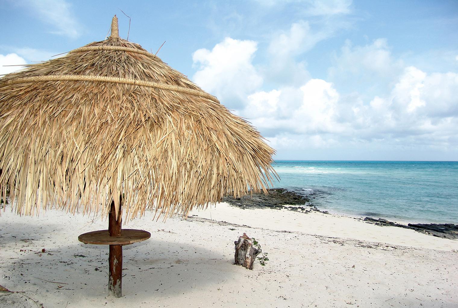 Medjumbe-Private-Island-MozambiqueBeach-Umbrella