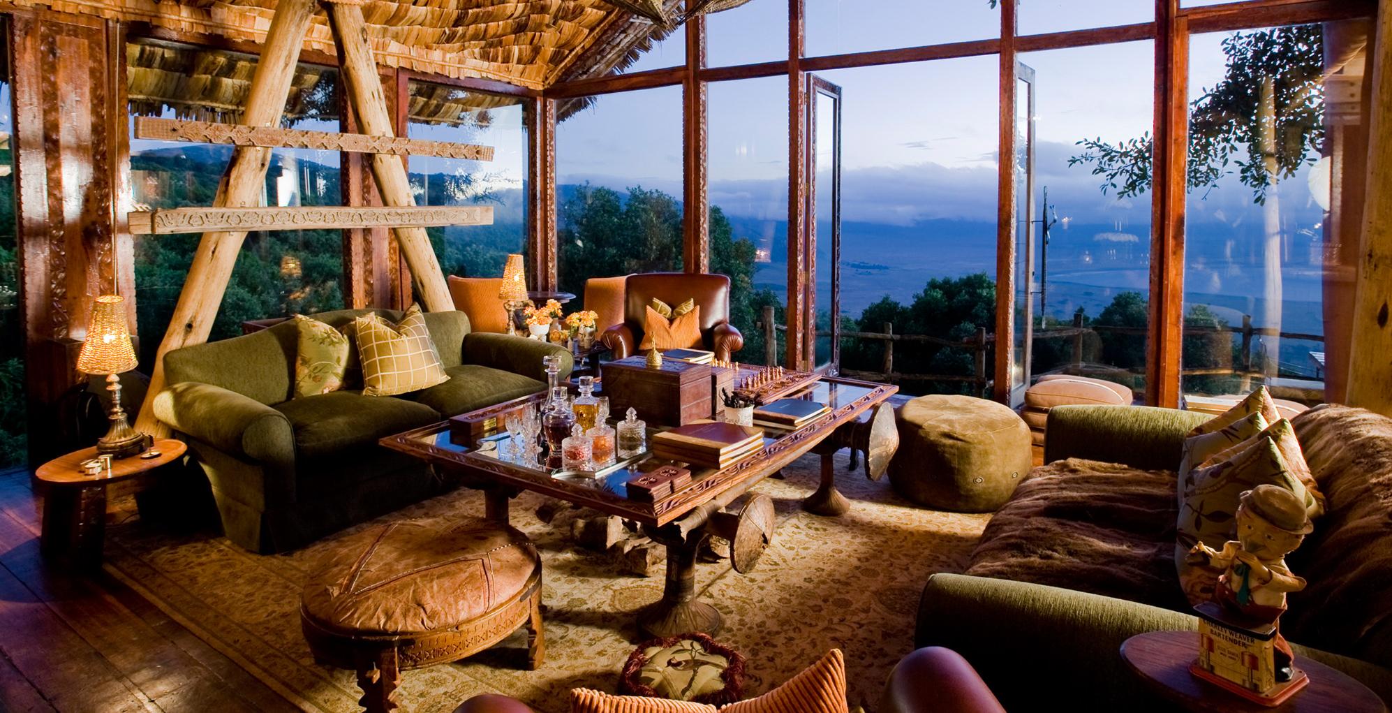 Ngorongoro Crater Lodge Interior