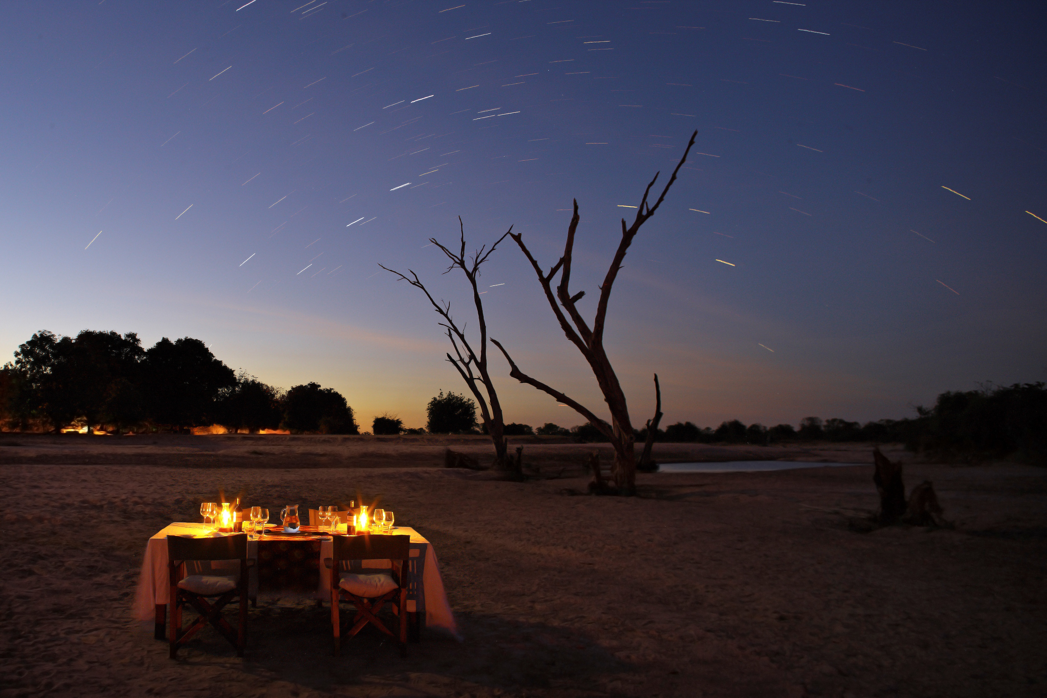 Nsolo-Camp-Zambia-dinner stars