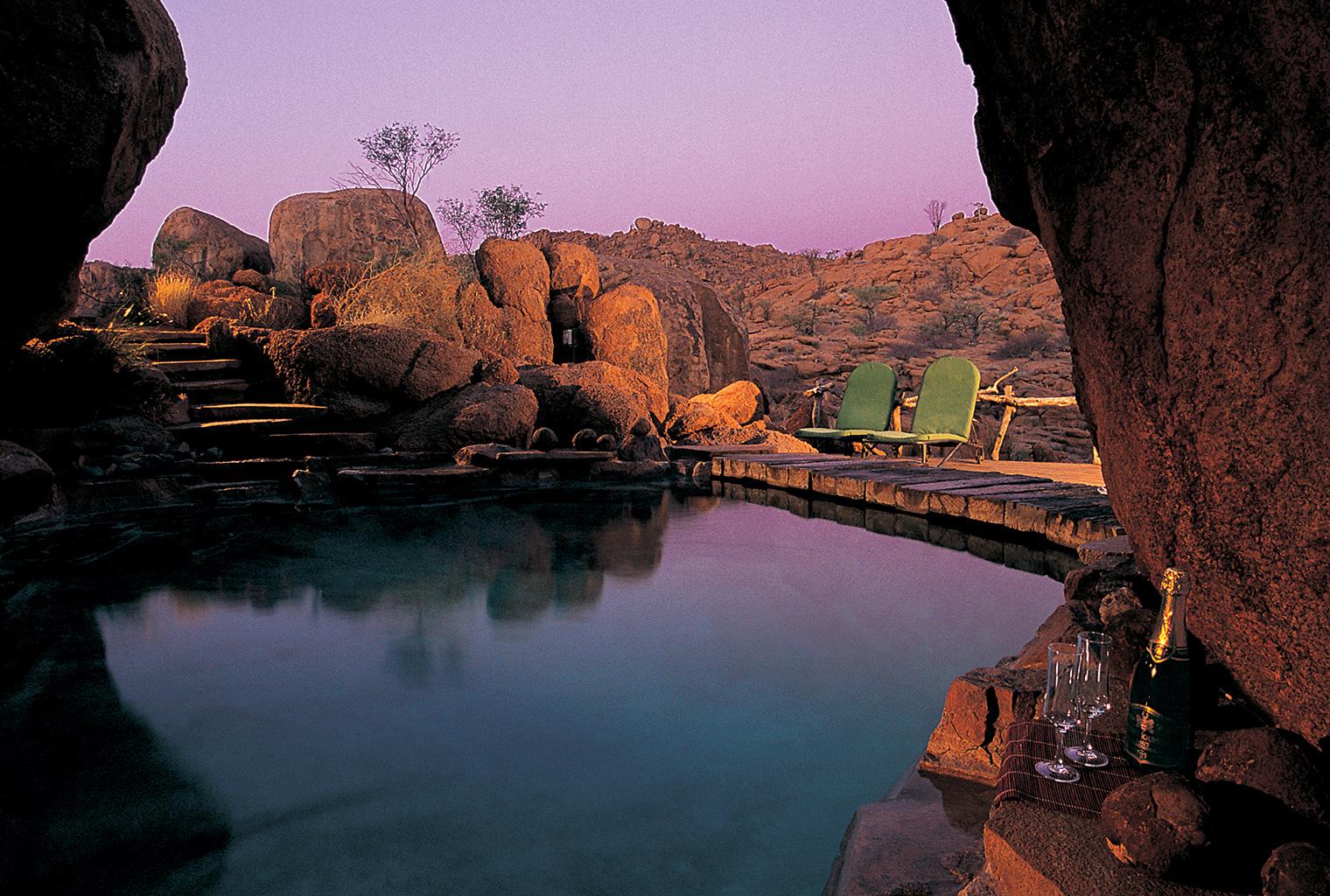 Mowani Mountain Camp, Namibia, Pool
