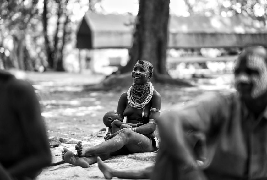 Lumale Camp, Ethiopia, Woman with Child