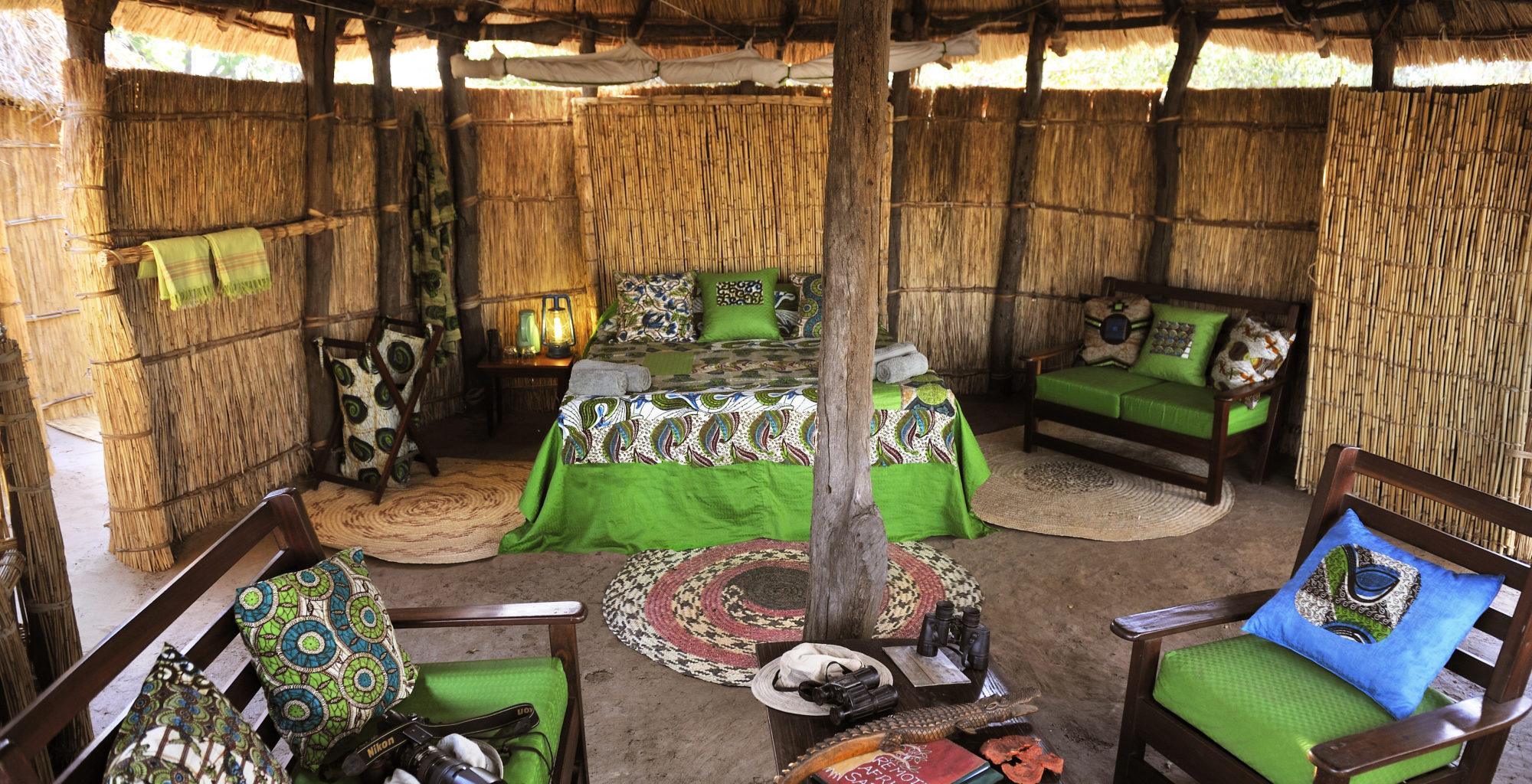 Zambia Crocodile Camp Bedroom