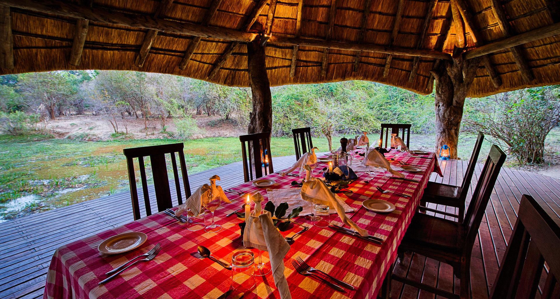 Nkwali Camp Zambia Dining