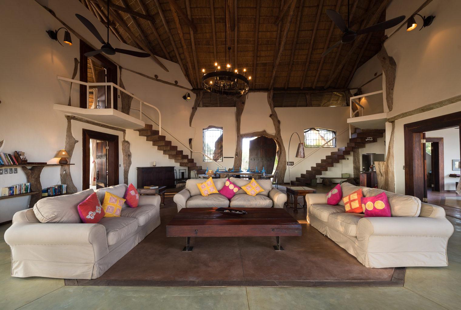 Luanga Safari House Zambia Lounge