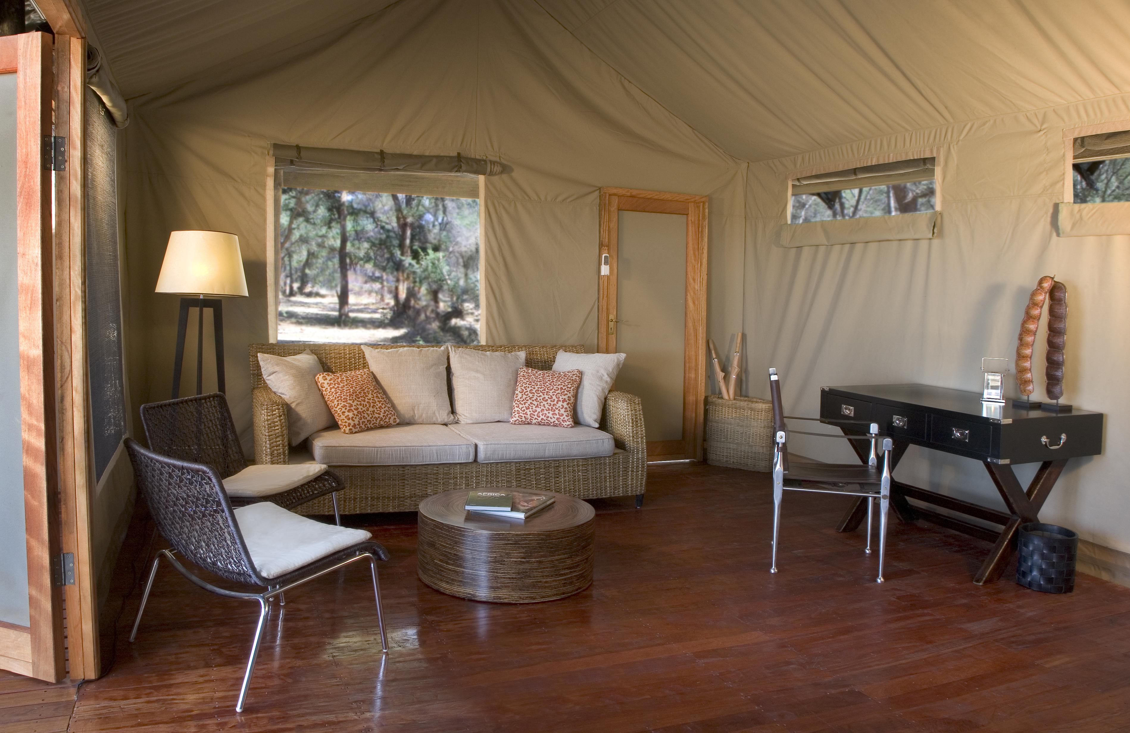 Zambezi Kulefu Camp Zambia Lounge