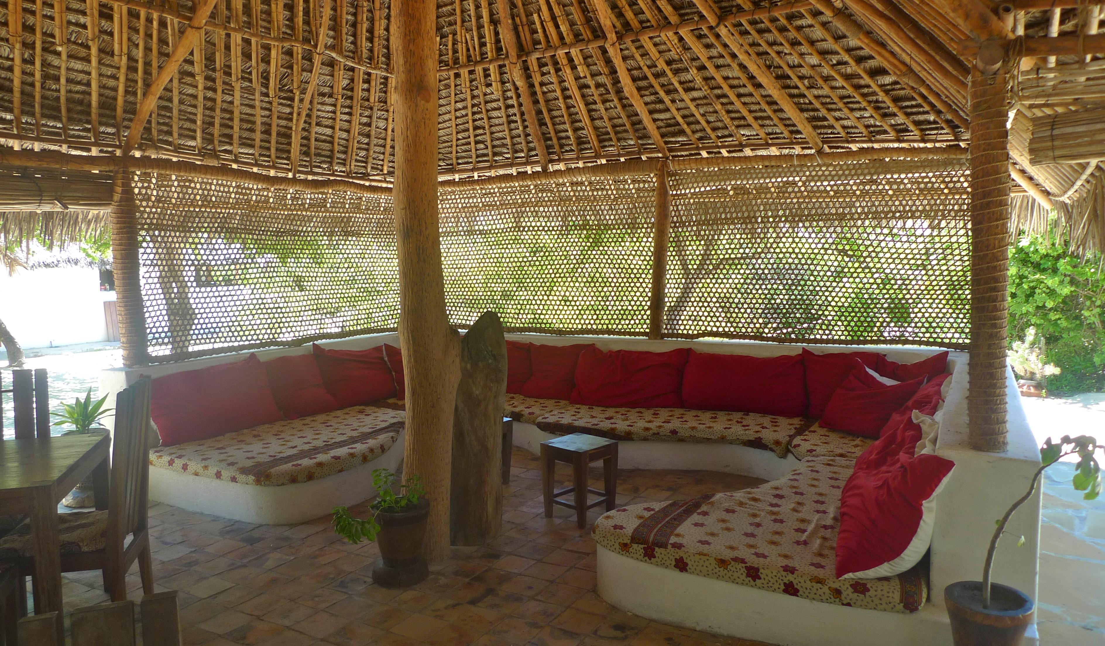 Guludo Mozambique Seating area