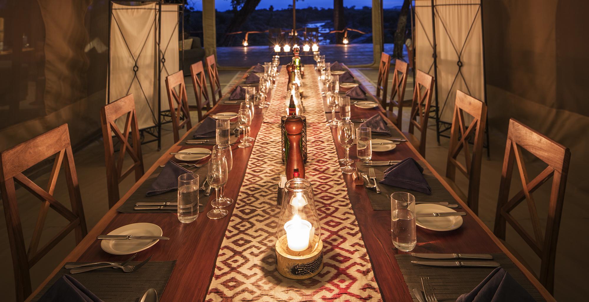 Dining Rekero Camp Kenya