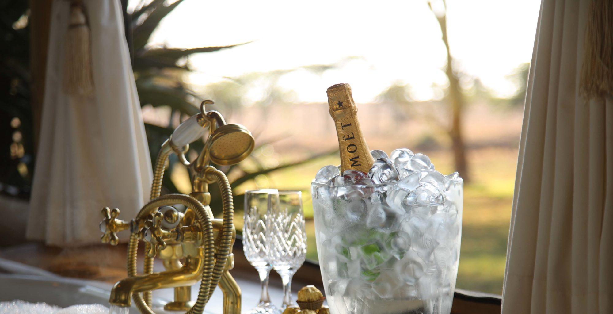 Champagne on Bathtub