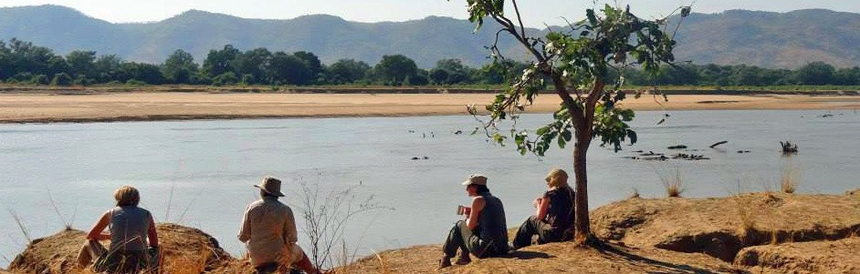 South Luangwa walking safari, Zambia, Bushcamp