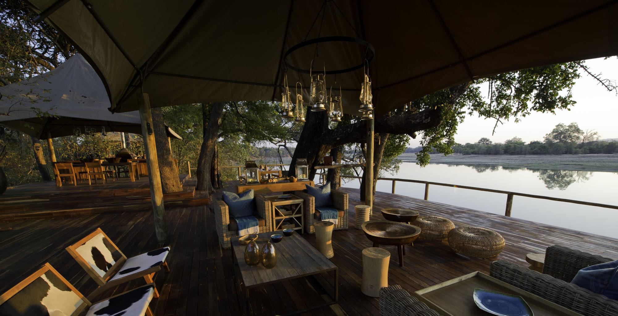 Chindeni Camp Zambia Lounge