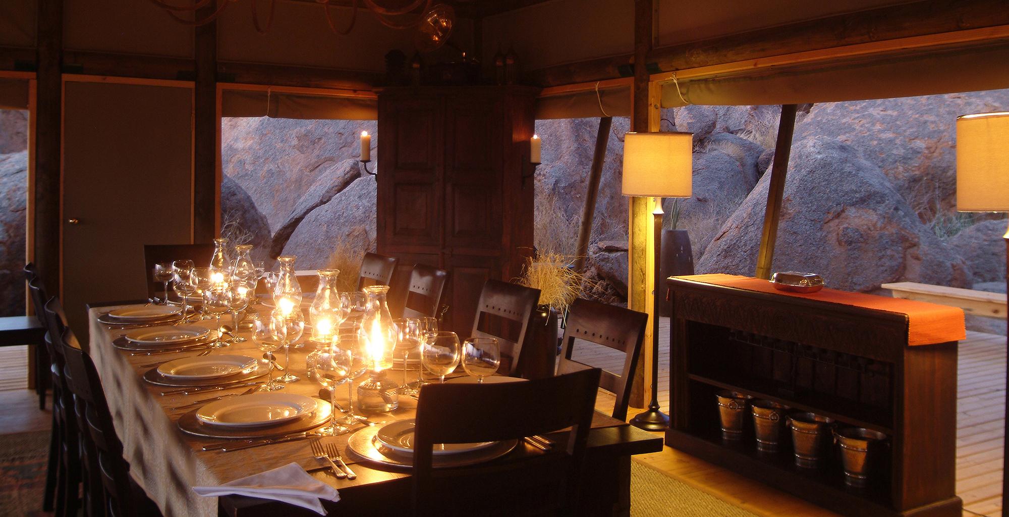 Namibia-Wolwedan-Boulder-Camp-Dining