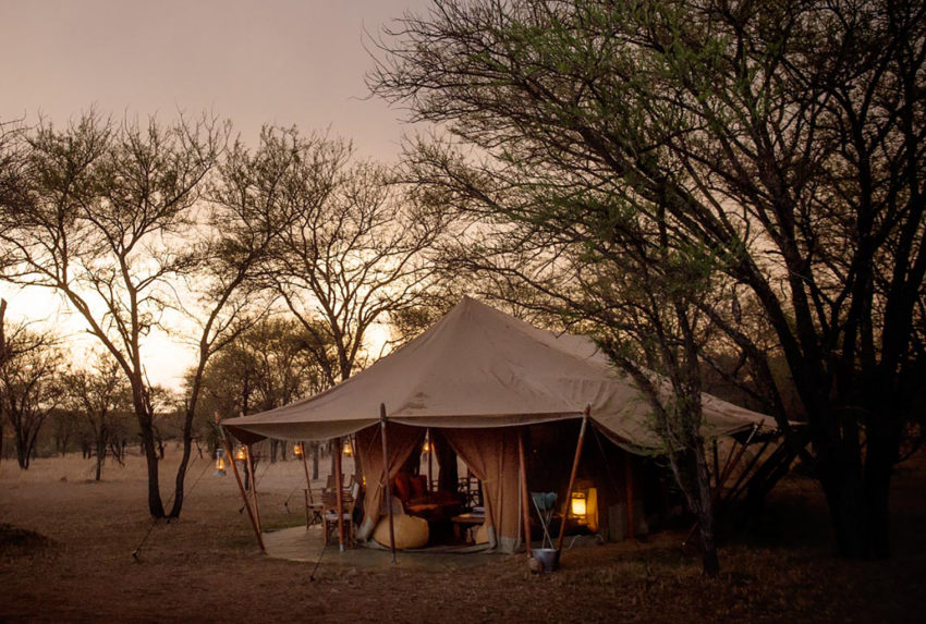 Tanzania-Serians-Serengeti-Mobile-Camp-Exterior-Sunset