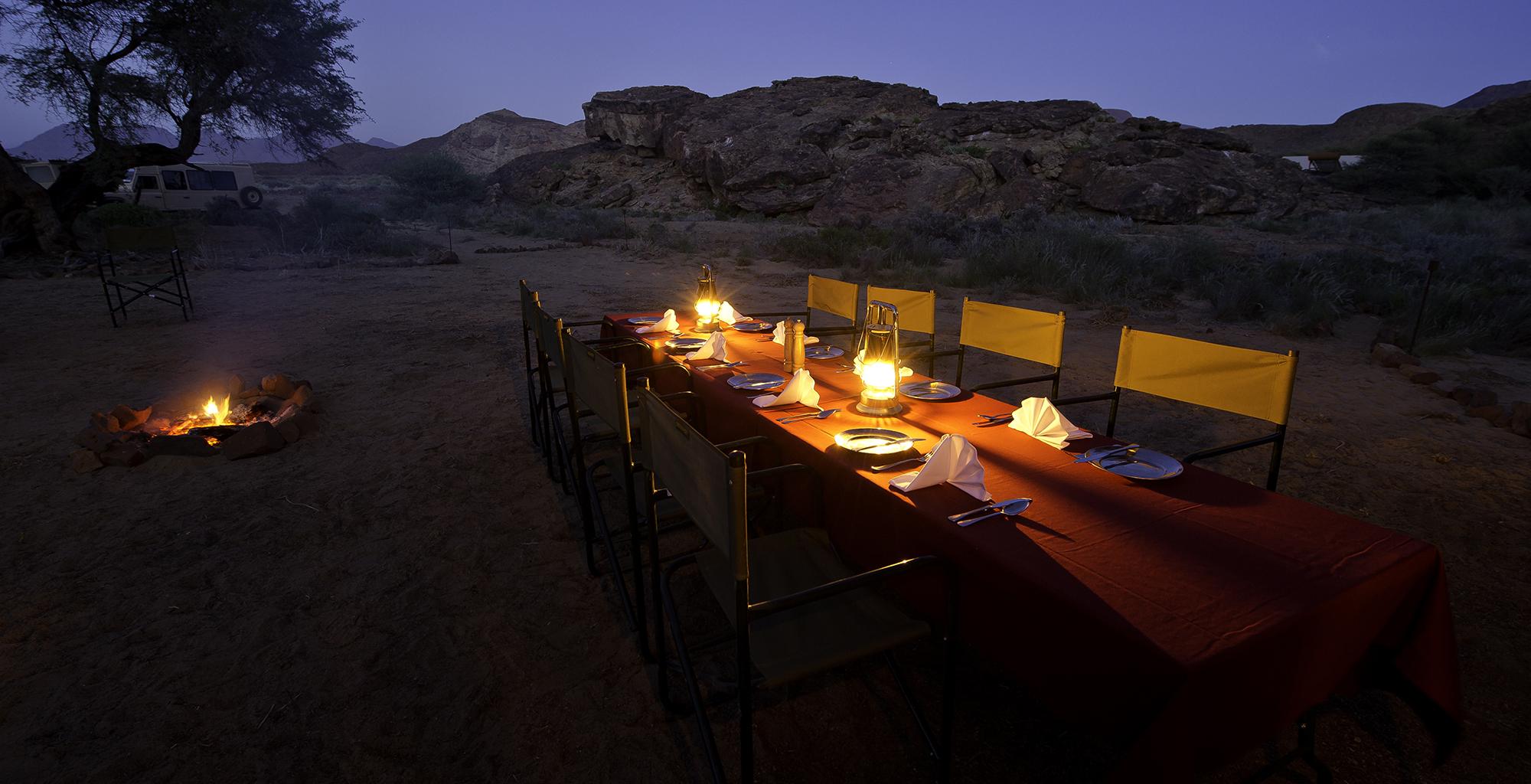 Namibia-Damaraland-Adventurer-Dining