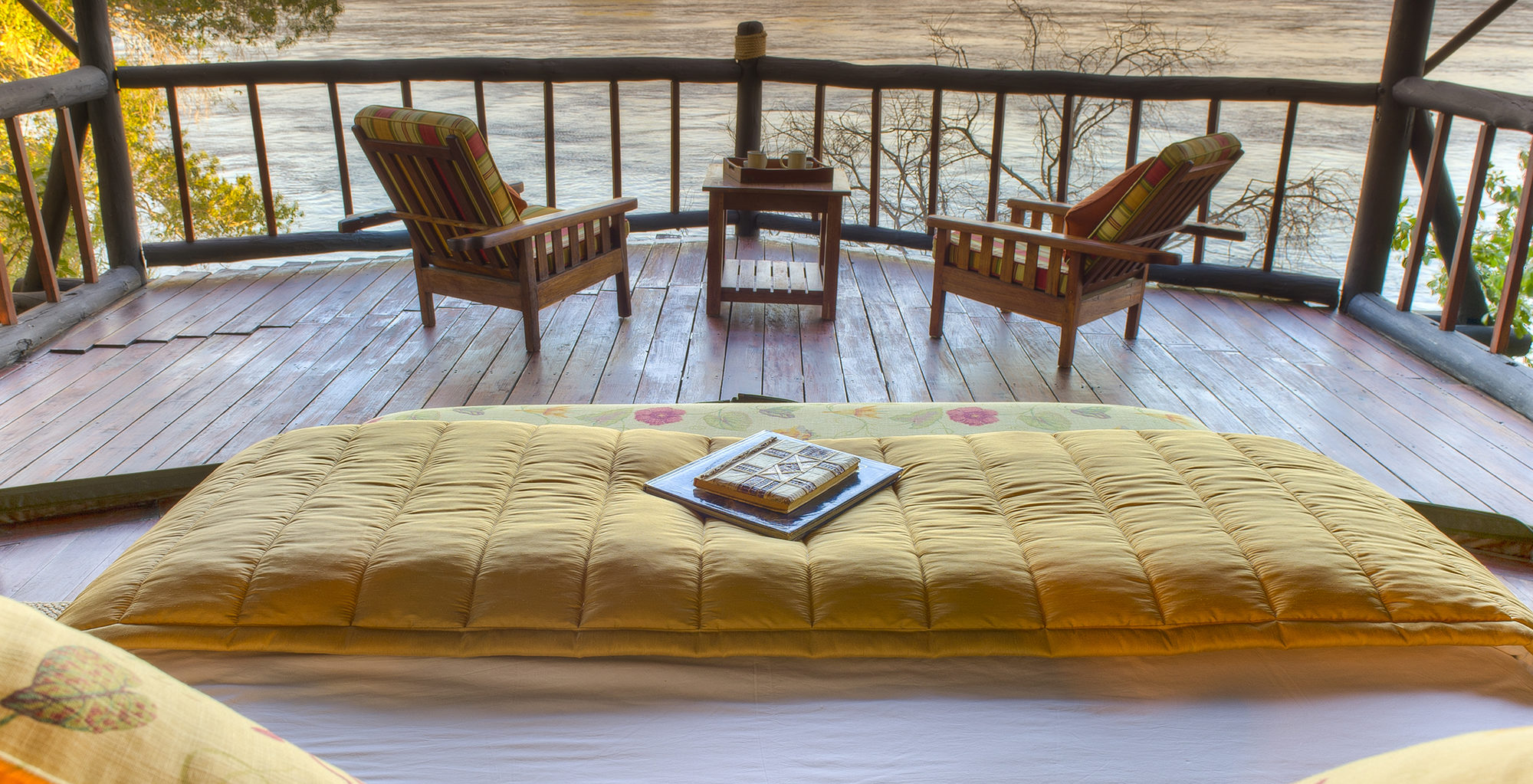 Zambia-Islands-of-Siankaba-Bed-View