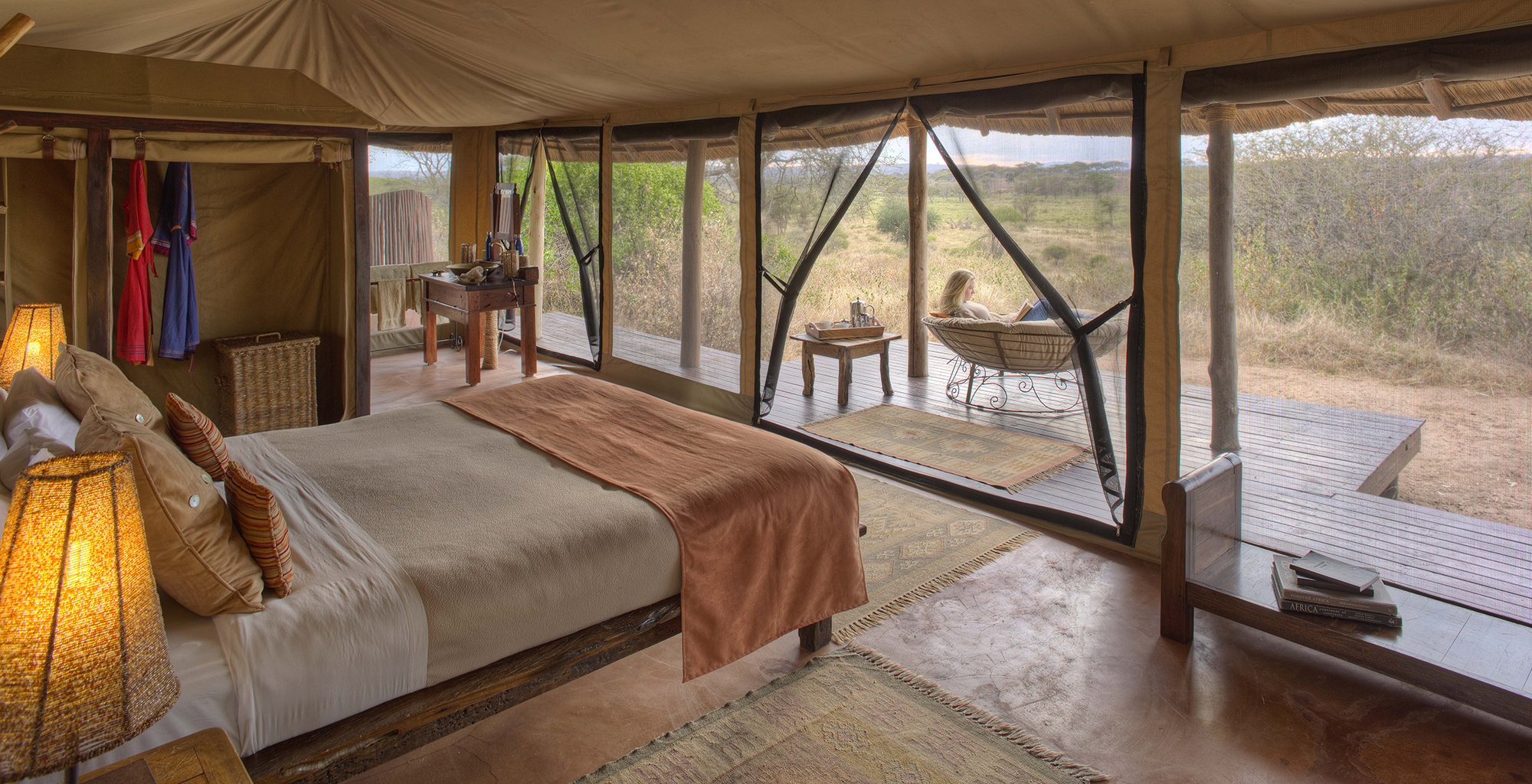 Tanzania-Olivers-Tented-Camp-Bedroom-View
